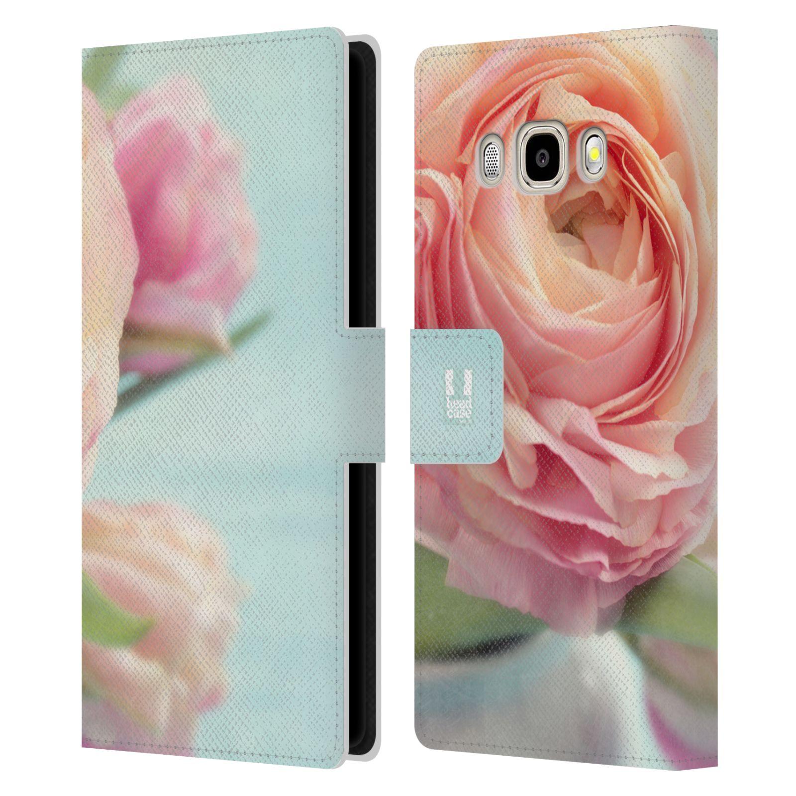 HEAD CASE Flipové pouzdro pro mobil Samsung Galaxy J5 2016 květy foto růže růžová