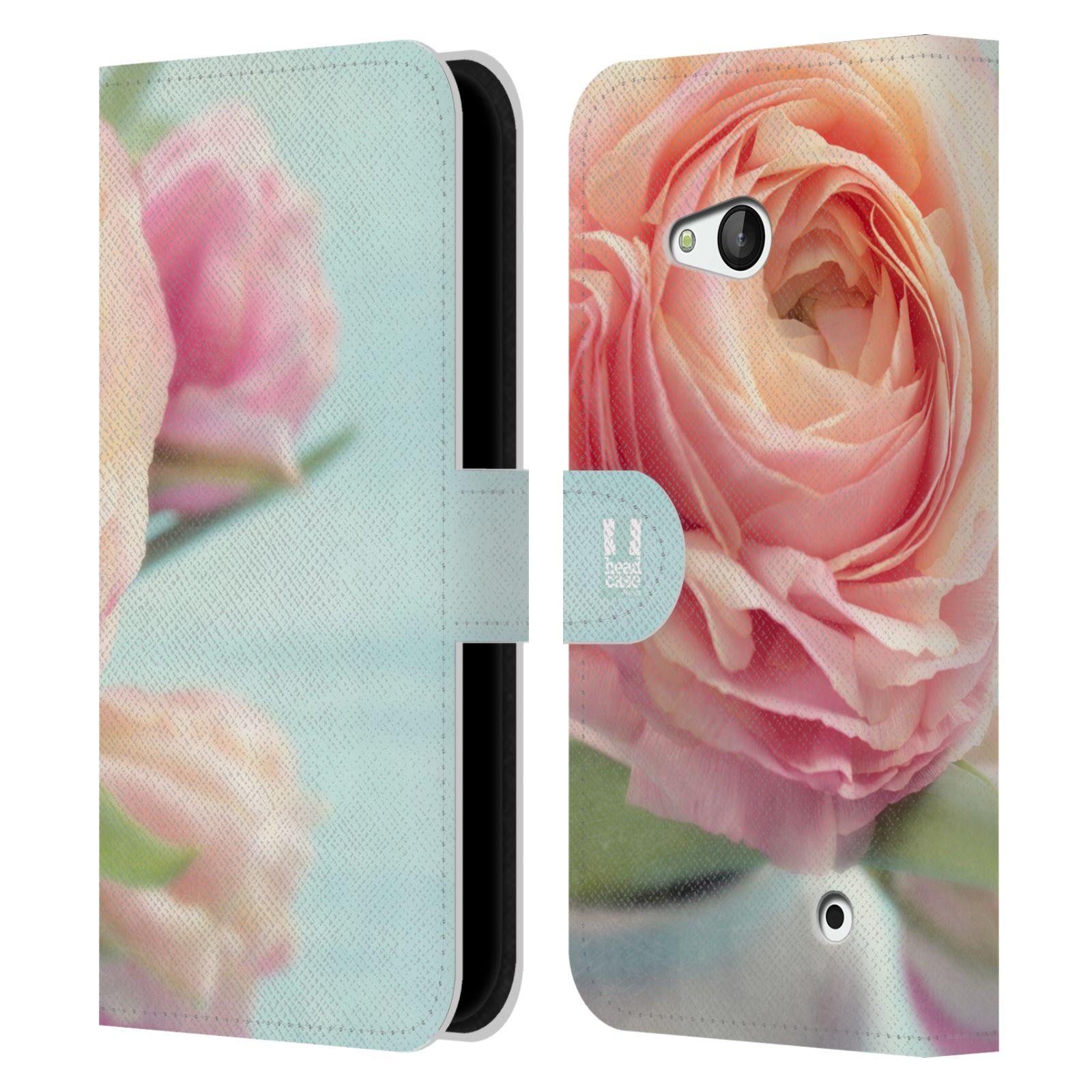 HEAD CASE Flipové pouzdro pro mobil NOKIA / MICROSOFT LUMIA 640 / LUMIA 640 DUAL květy foto růže růžová