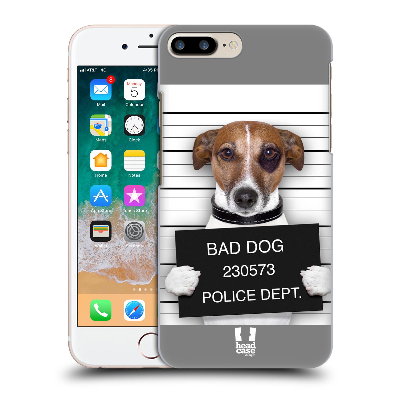 HEAD CASE plastový obal na mobil Apple Iphone 7 PLUS vzor Legrační zvířátka pejsek na policii