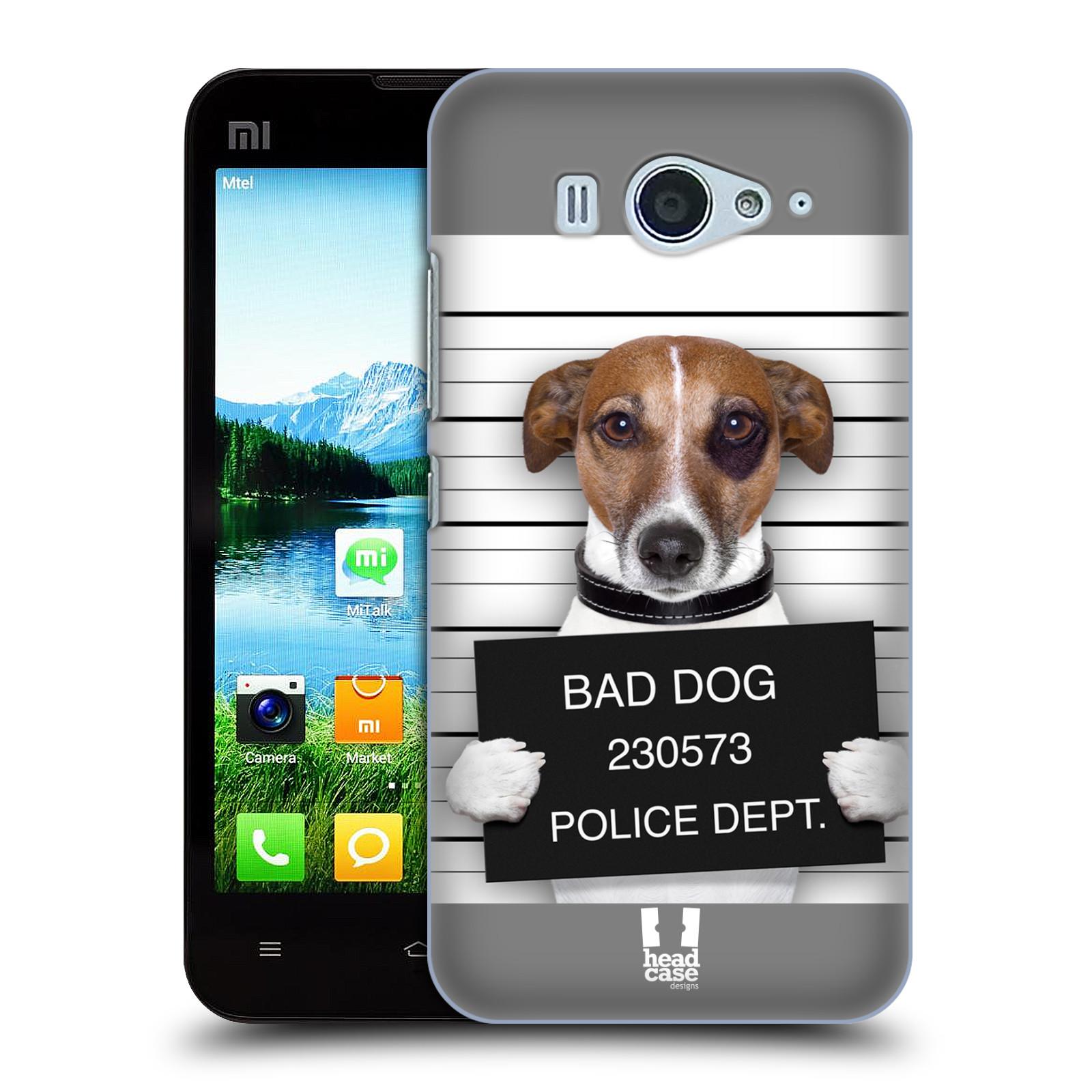 HEAD CASE pevný plastový obal na mobil XIAOMI MI2s vzor Legrační zvířátka pejsek na policii