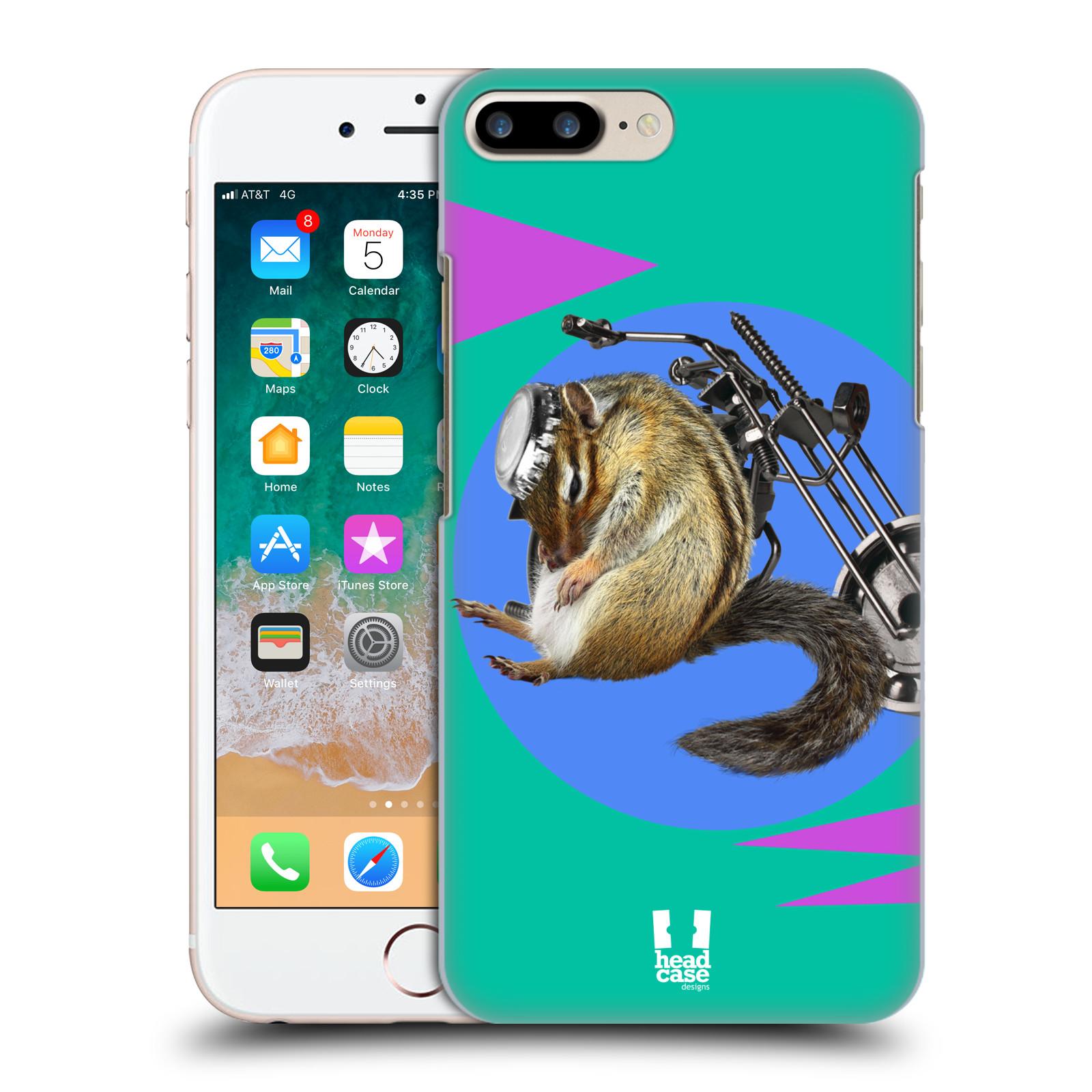 HEAD CASE plastový obal na mobil Apple Iphone 7 PLUS vzor Legrační zvířátka veverka motorkář