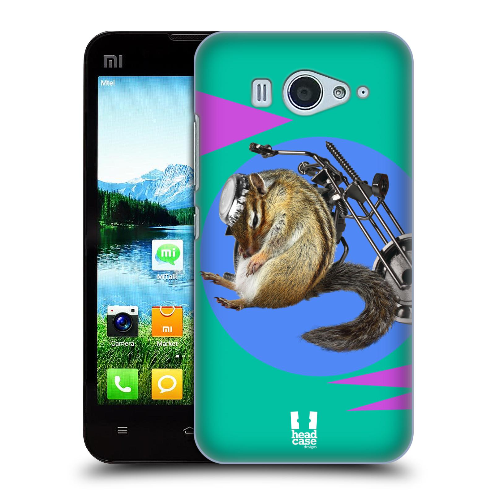 HEAD CASE pevný plastový obal na mobil XIAOMI MI2s vzor Legrační zvířátka veverka motorkář