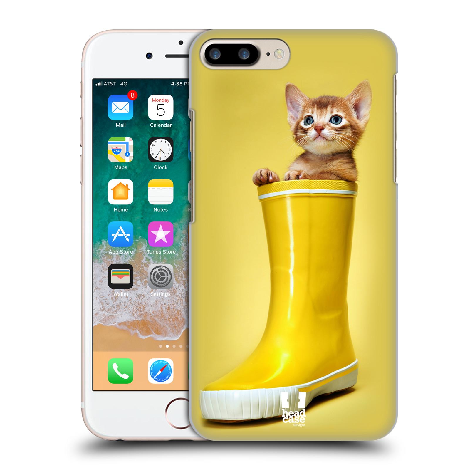 HEAD CASE plastový obal na mobil Apple Iphone 7 PLUS vzor Legrační zvířátka kotě v botě žlutá