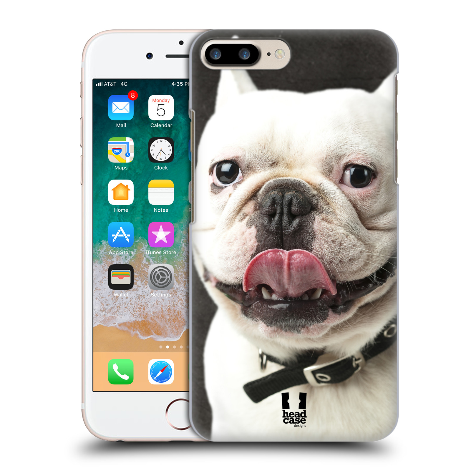 HEAD CASE plastový obal na mobil Apple Iphone 7 PLUS vzor Legrační zvířátka pejsek s vyplazeným jazykem BULDOK