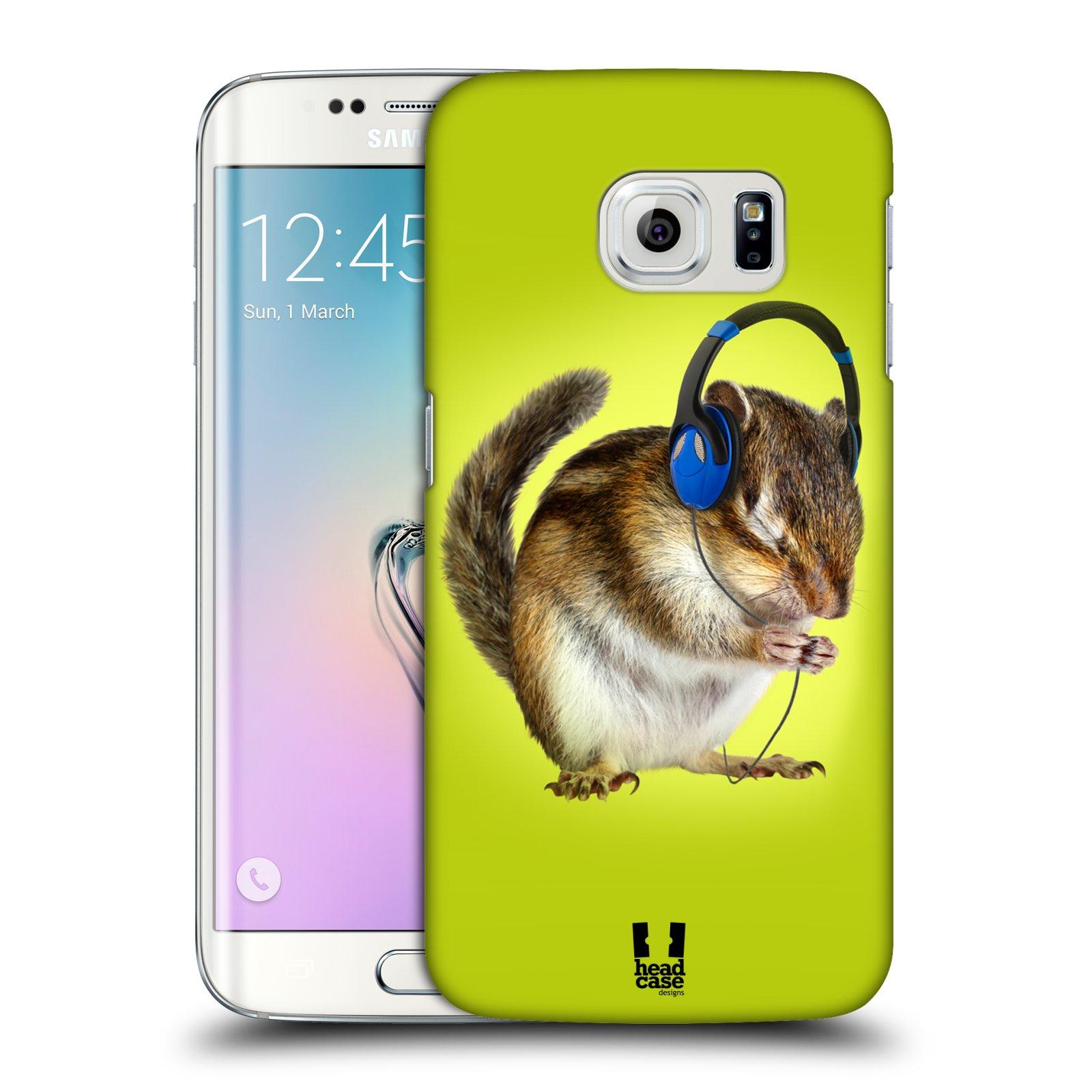 HEAD CASE plastový obal na mobil SAMSUNG Galaxy S6 EDGE (G9250, G925, G925F) vzor Legrační zvířátka veverka se sluchátky