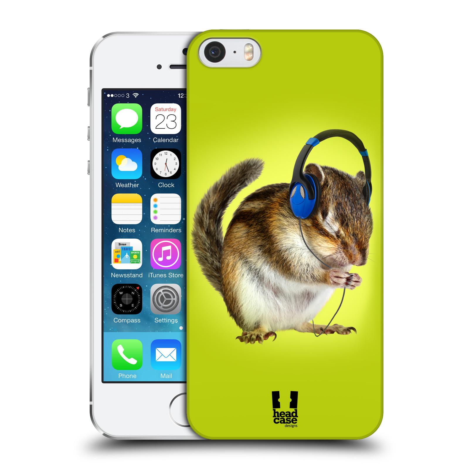 Plastové pouzdro pro mobil Apple Iphone 5 / 5S / SE vzor Legrační zvířátka veverka se sluchátky