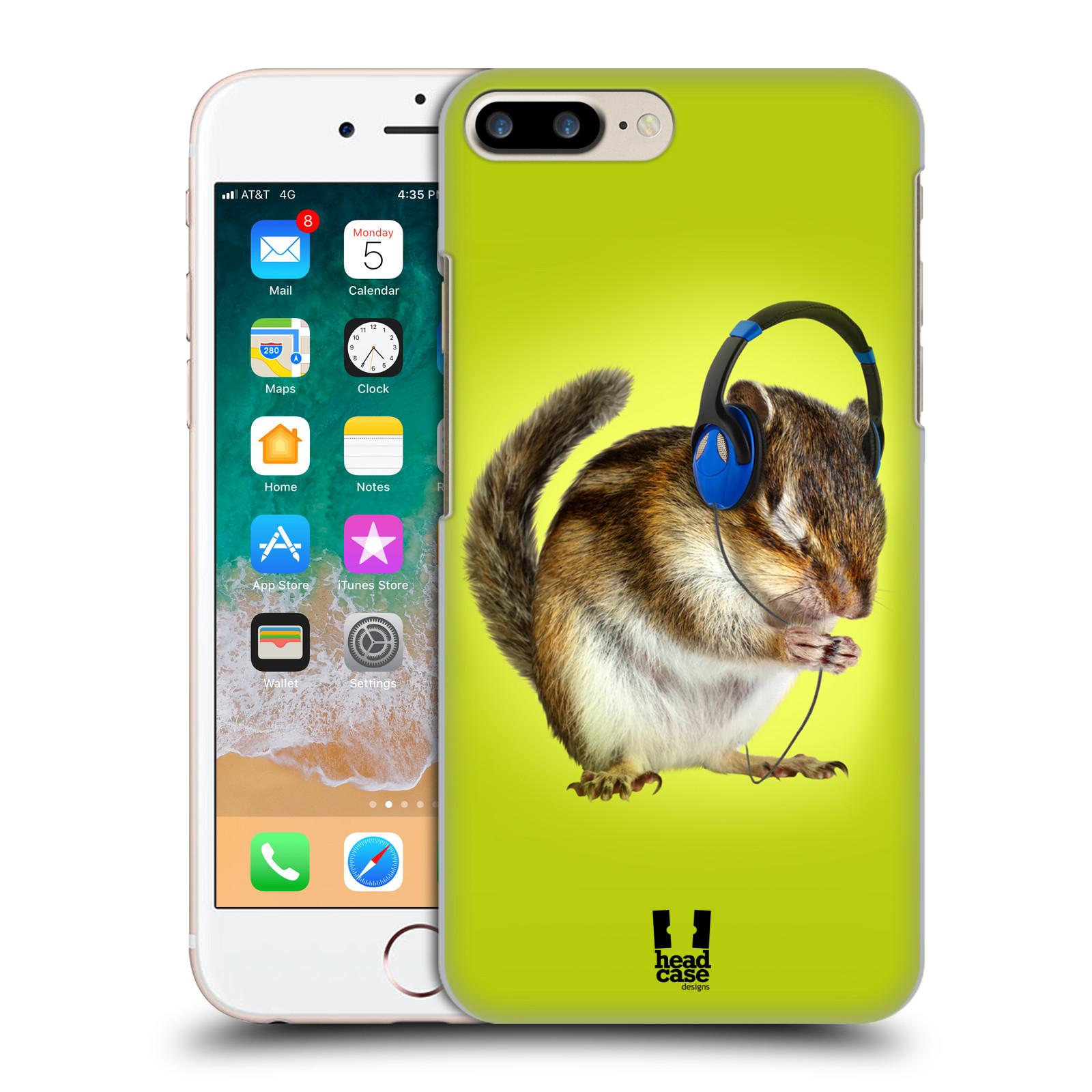 HEAD CASE plastový obal na mobil Apple Iphone 7 PLUS vzor Legrační zvířátka veverka se sluchátky