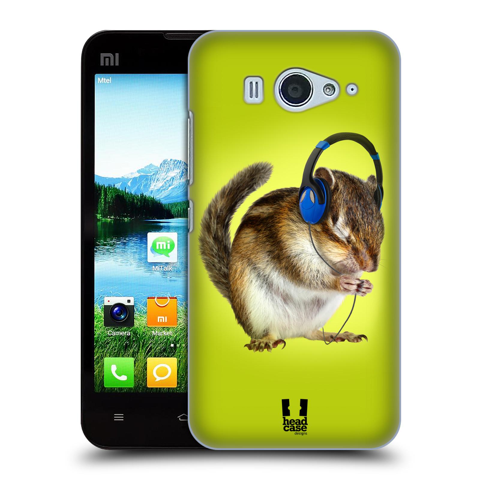 HEAD CASE pevný plastový obal na mobil XIAOMI MI2s vzor Legrační zvířátka veverka se sluchátky