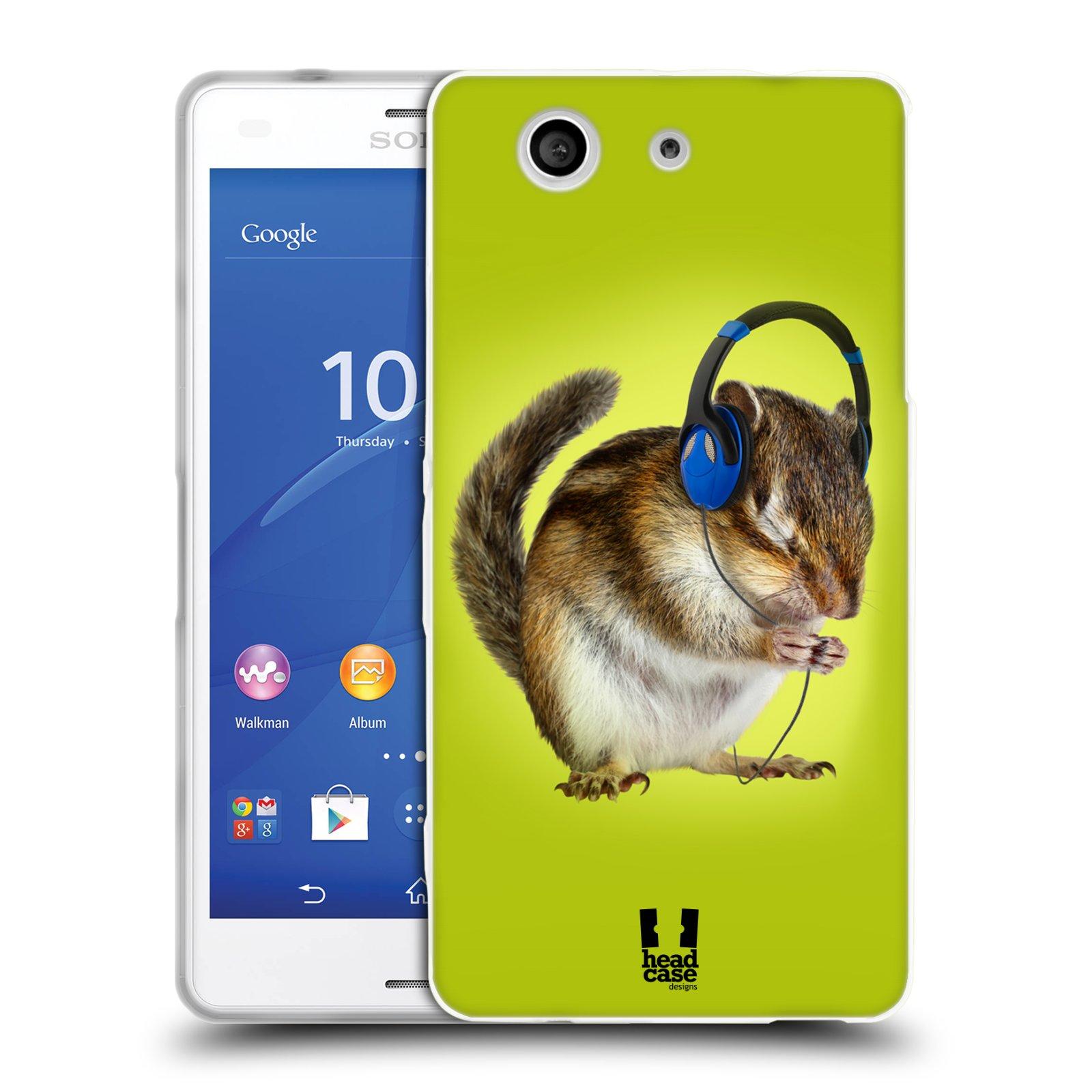 HEAD CASE silikonový obal na mobil Sony Xperia Z3 COMPACT (D5803) vzor Legrační zvířátka veverka se sluchátky