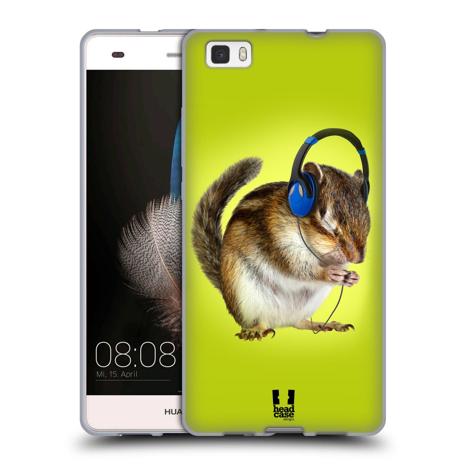 HEAD CASE silikonový obal na mobil Huawei  P8 LITE Legrační zvířátka Veverka DJ