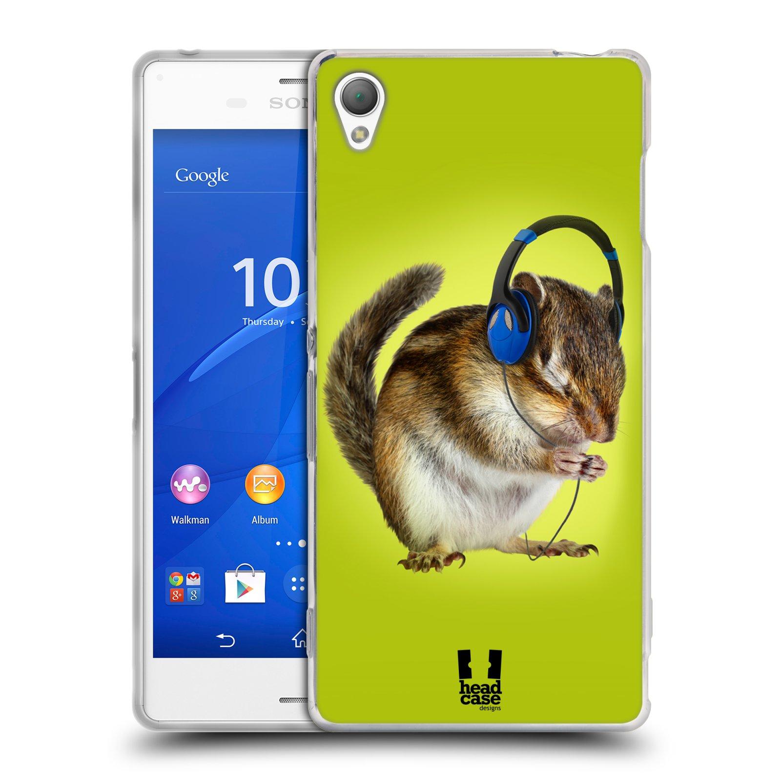 HEAD CASE silikonový obal na mobil Sony Xperia Z3 vzor Legrační zvířátka veverka se sluchátky
