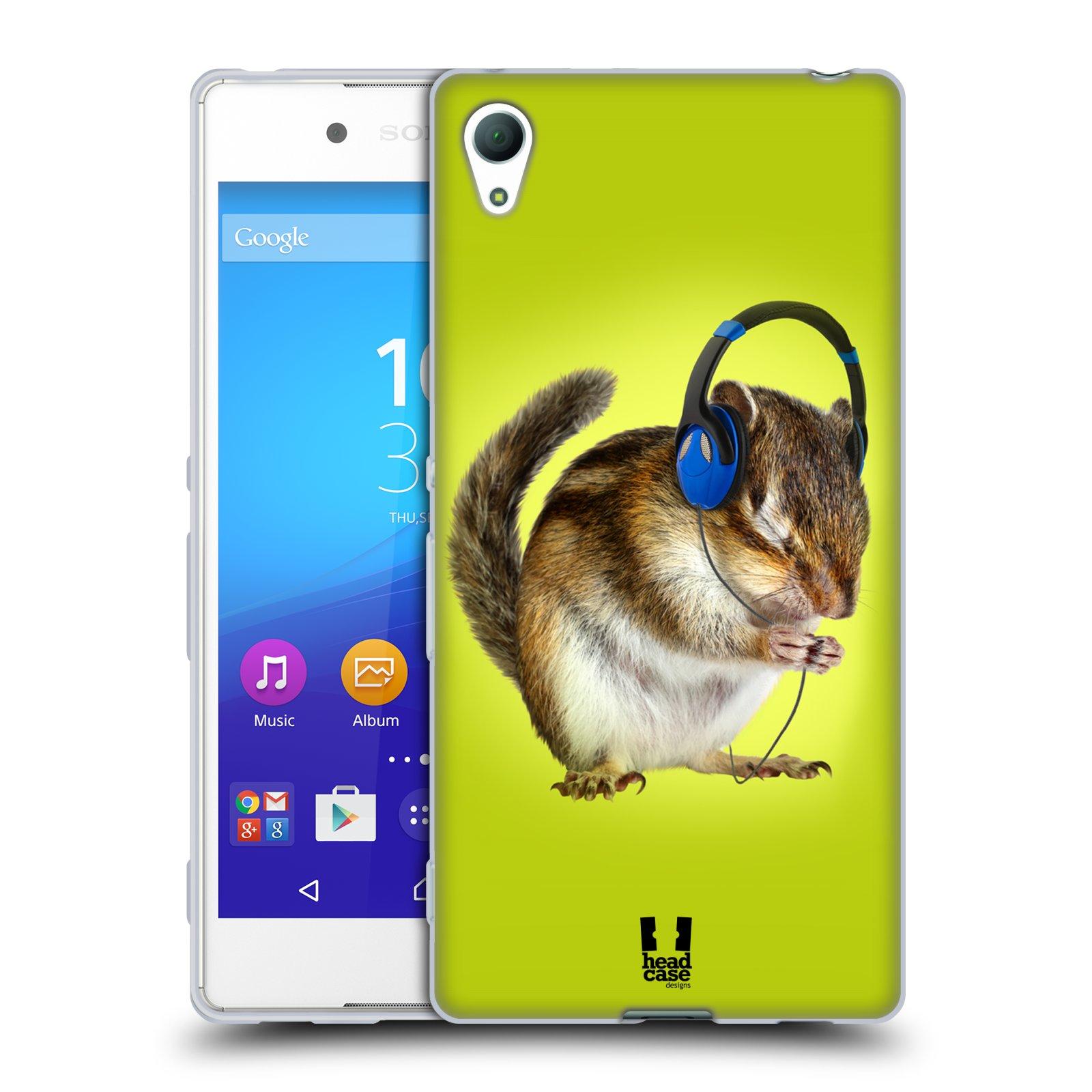 HEAD CASE silikonový obal na mobil Sony Xperia Z3 + (PLUS) vzor Legrační zvířátka veverka se sluchátky