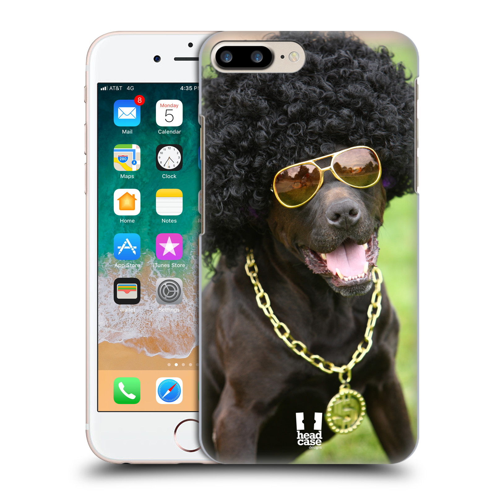 HEAD CASE plastový obal na mobil Apple Iphone 7 PLUS vzor Legrační zvířátka pejsek boháč