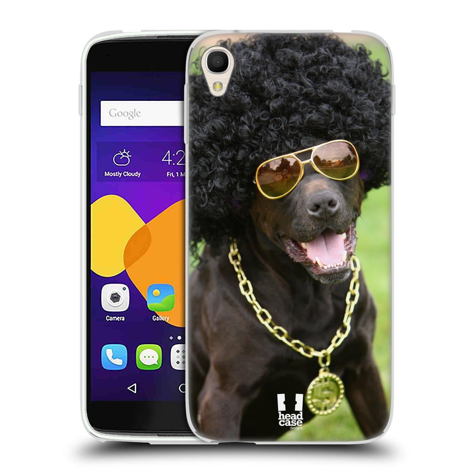 HEAD CASE silikonový obal na mobil Alcatel Idol 3 OT-6045Y (5.5) vzor Legrační zvířátka pejsek boháč