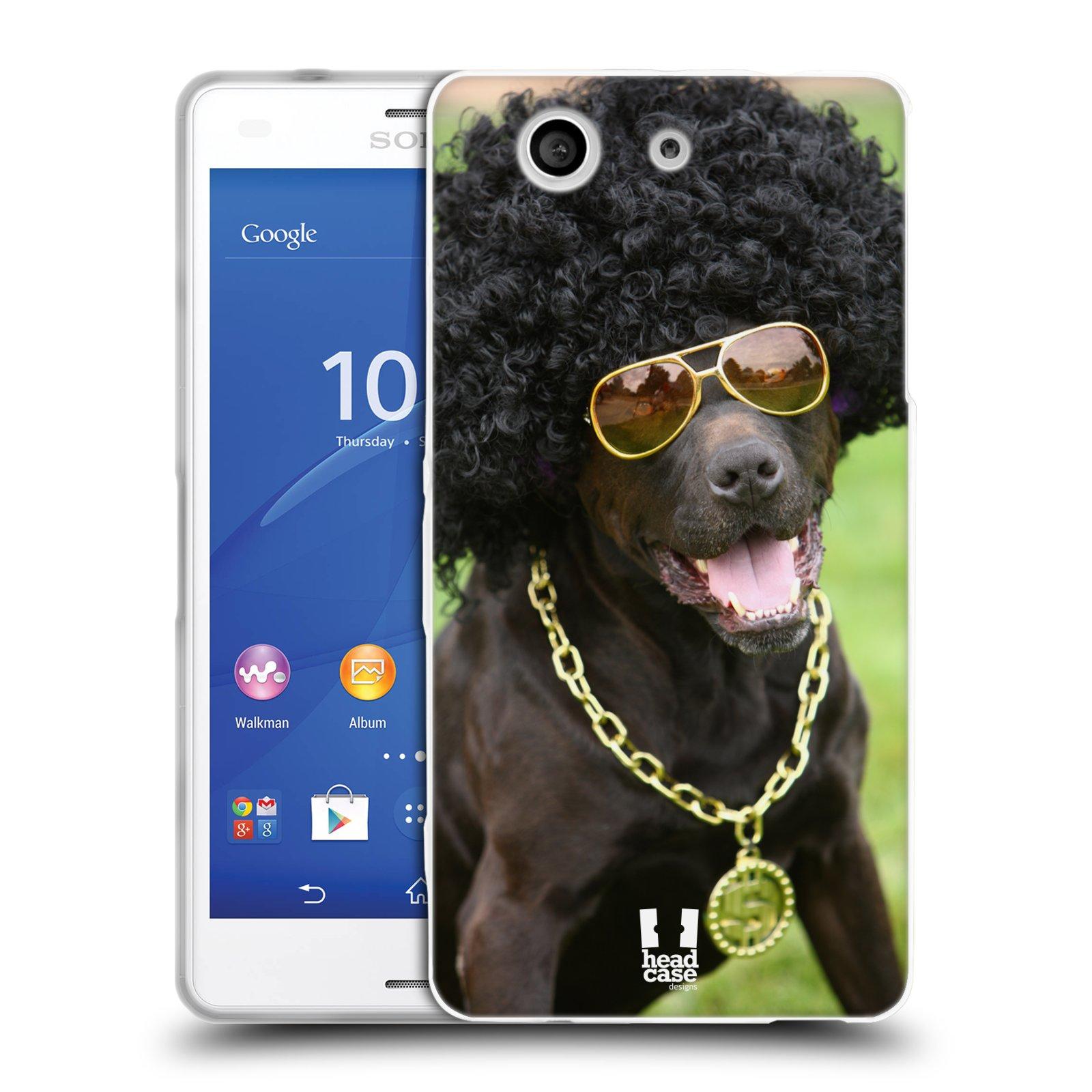 HEAD CASE silikonový obal na mobil Sony Xperia Z3 COMPACT (D5803) vzor Legrační zvířátka pejsek boháč