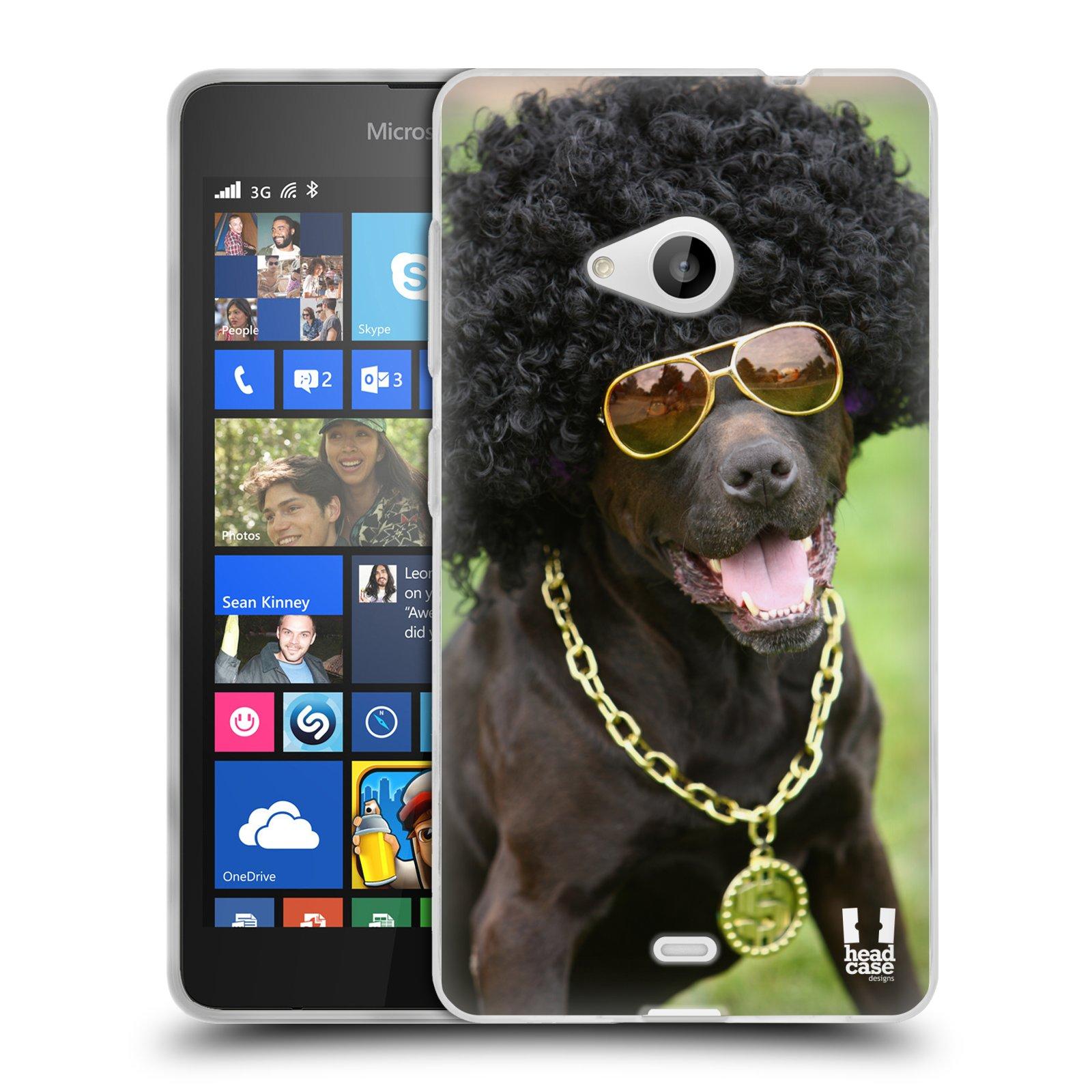 HEAD CASE silikonový obal na mobil Microsoft Lumia 535 / Lumia 535 DUAL vzor Legrační zvířátka pejsek boháč