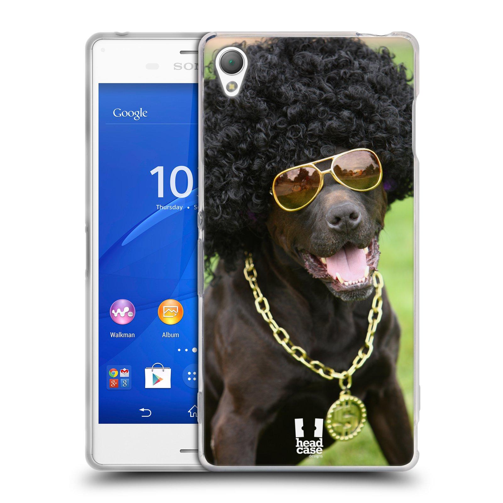 HEAD CASE silikonový obal na mobil Sony Xperia Z3 vzor Legrační zvířátka pejsek boháč