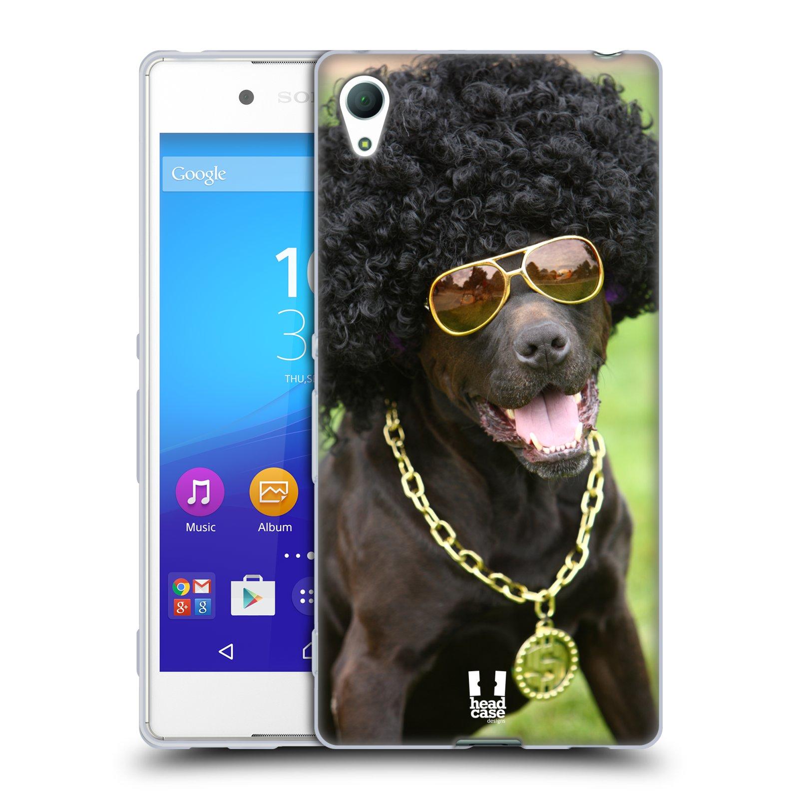 HEAD CASE silikonový obal na mobil Sony Xperia Z3 + (PLUS) vzor Legrační zvířátka pejsek boháč