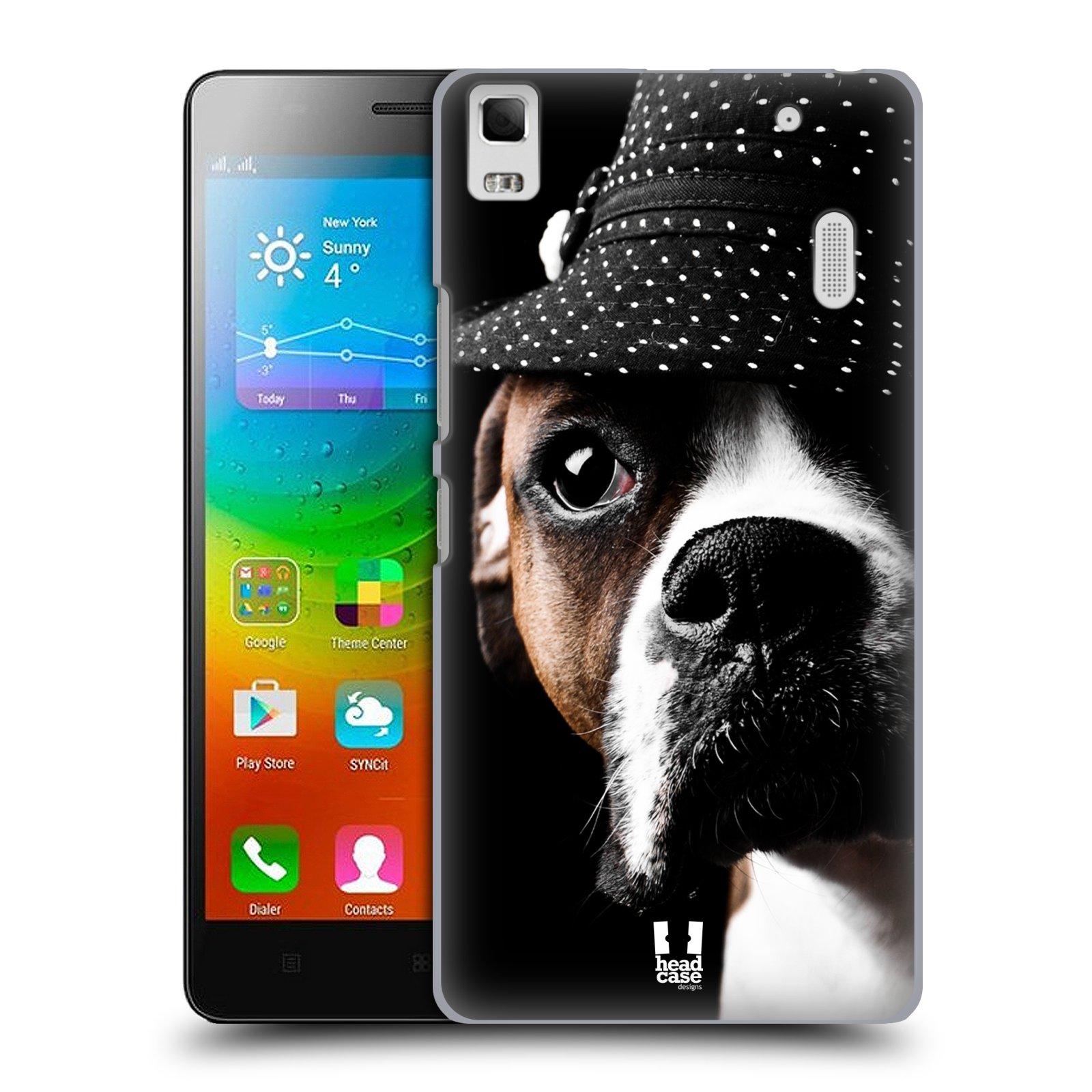 HEAD CASE pevný plastový obal na mobil LENOVO A7000 / A7000 DUAL / K3 NOTE vzor Legrační zvířátka pejsek frajer