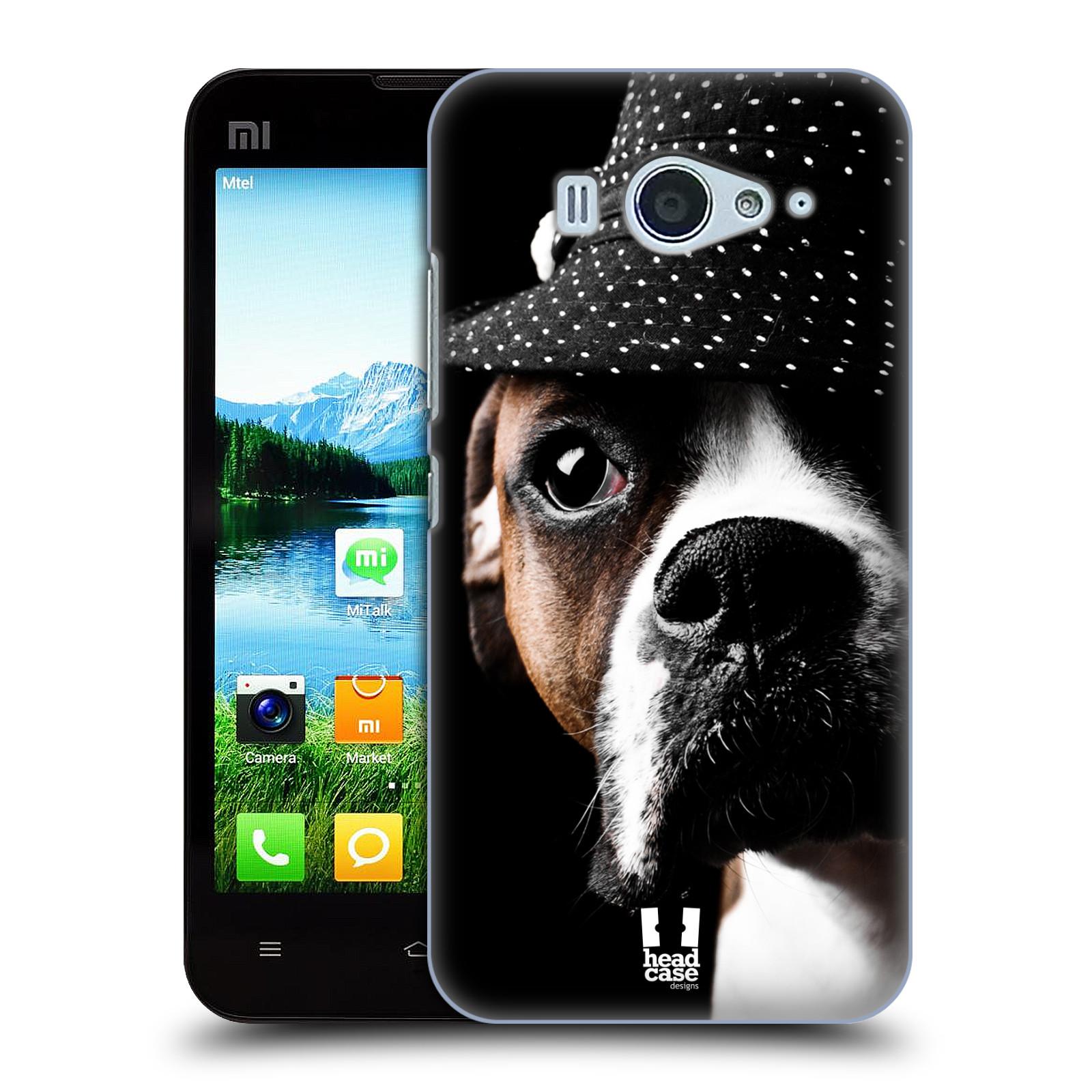 HEAD CASE pevný plastový obal na mobil XIAOMI MI2s vzor Legrační zvířátka pejsek frajer