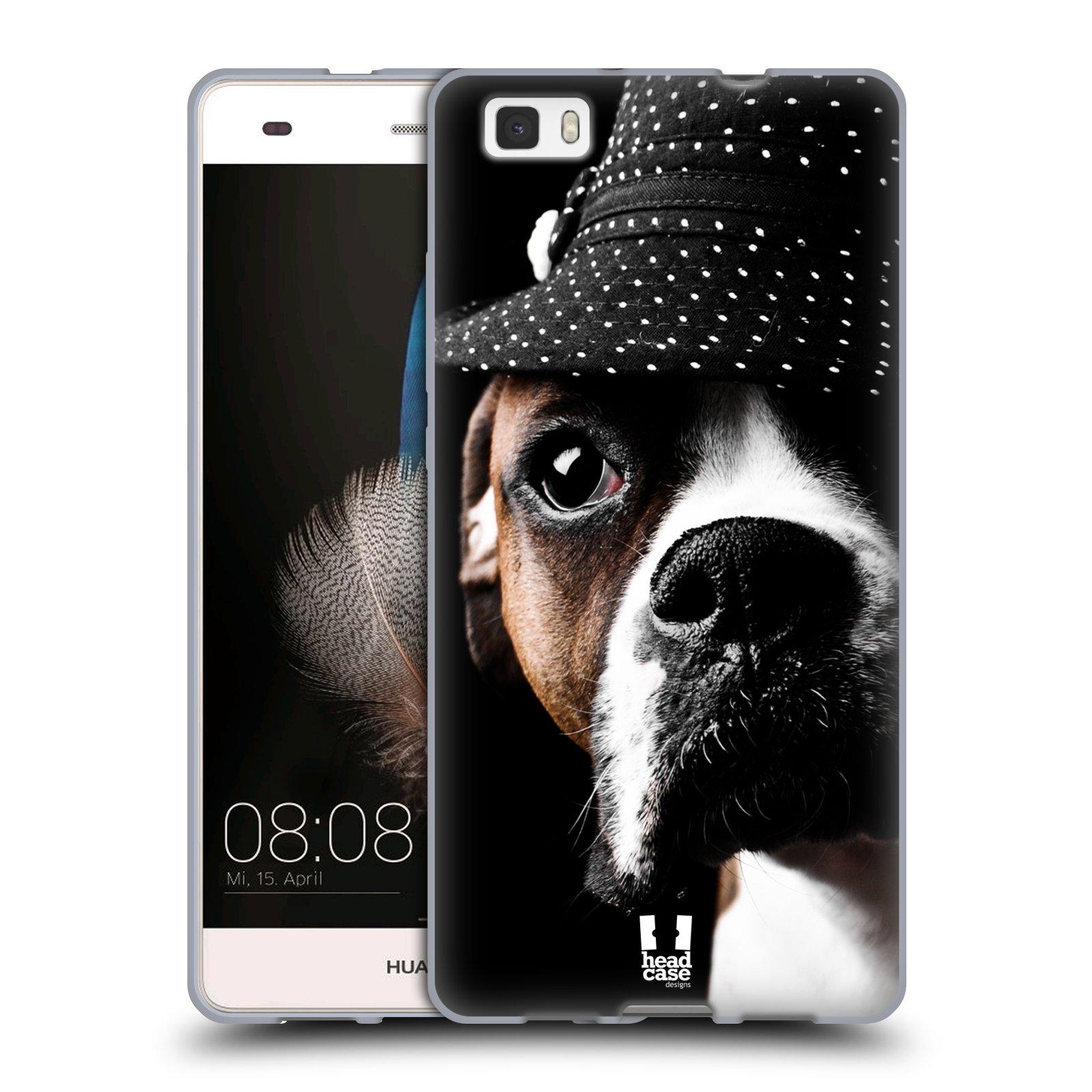 HEAD CASE silikonový obal na mobil Huawei  P8 LITE Legrační zvířátka pejsek drsňák