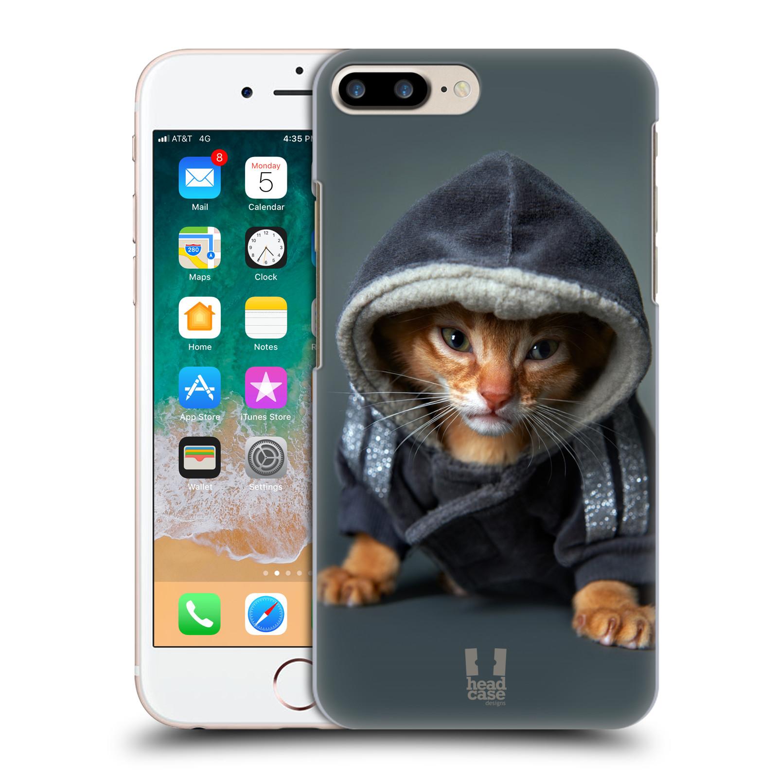 HEAD CASE plastový obal na mobil Apple Iphone 7 PLUS vzor Legrační zvířátka kotě/kočička s kapucí