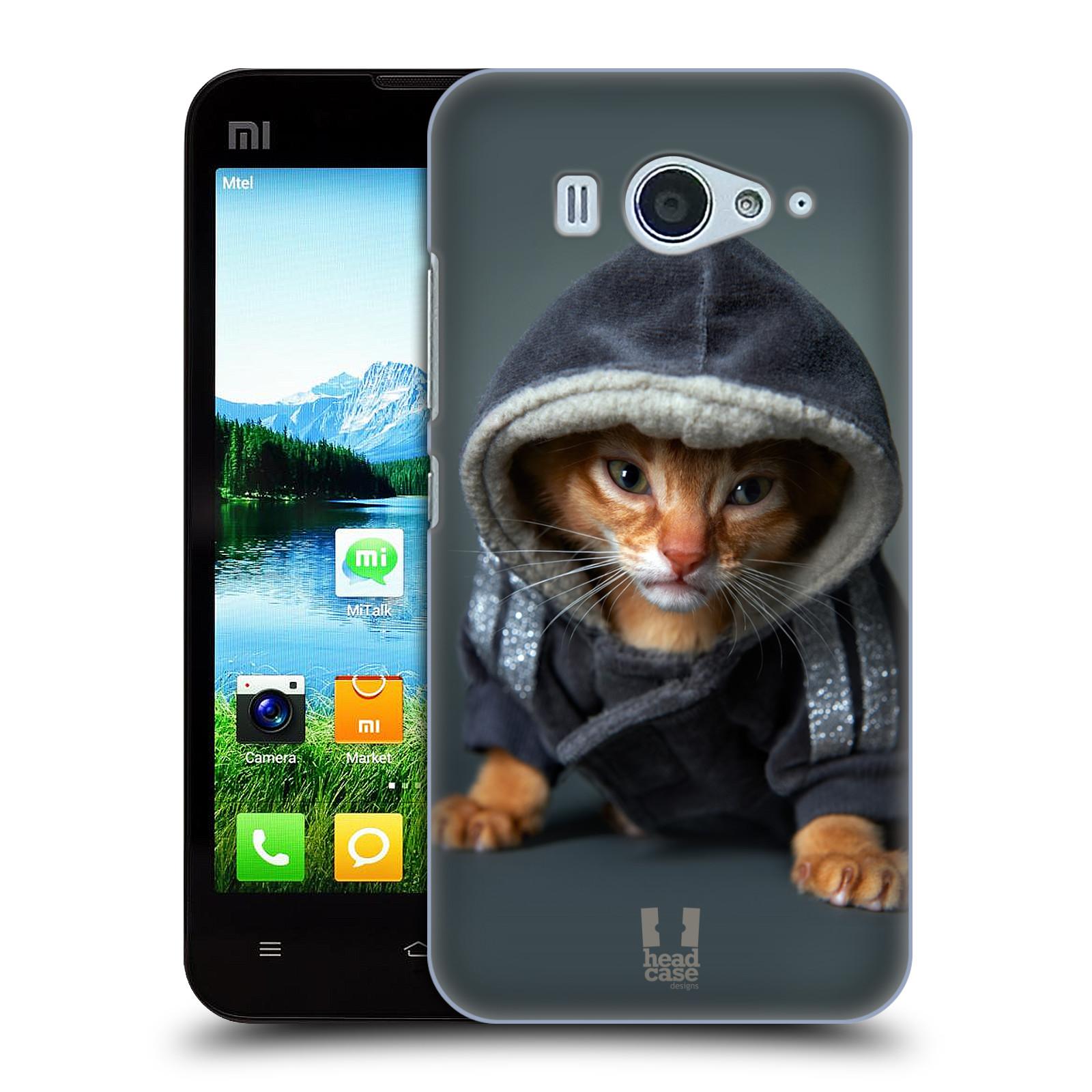 HEAD CASE pevný plastový obal na mobil XIAOMI MI2s vzor Legrační zvířátka kotě/kočička s kapucí