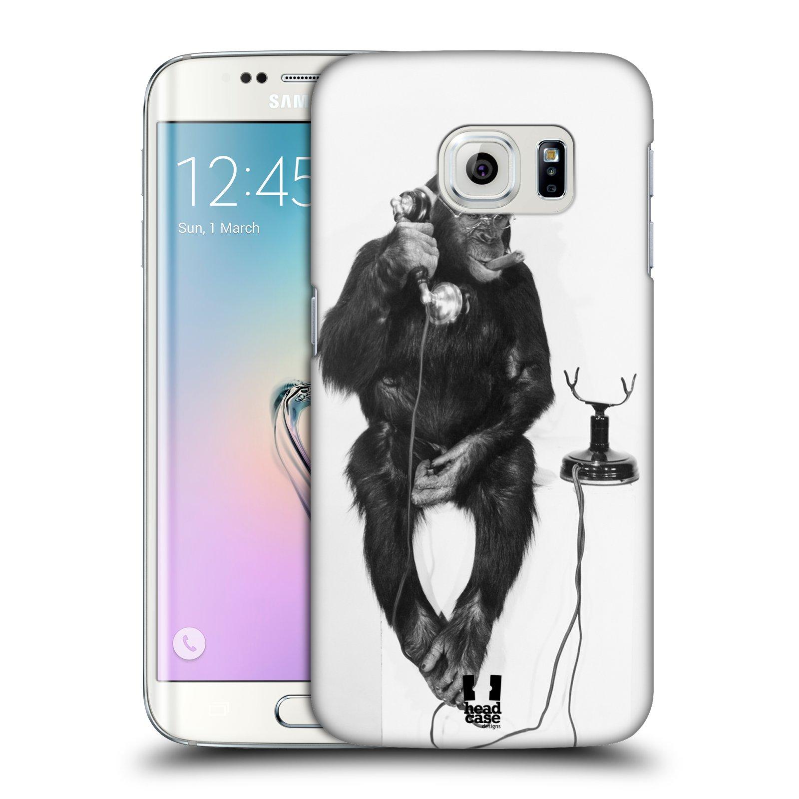 HEAD CASE plastový obal na mobil SAMSUNG Galaxy S6 EDGE (G9250, G925, G925F) vzor Legrační zvířátka opička se sluchátkem