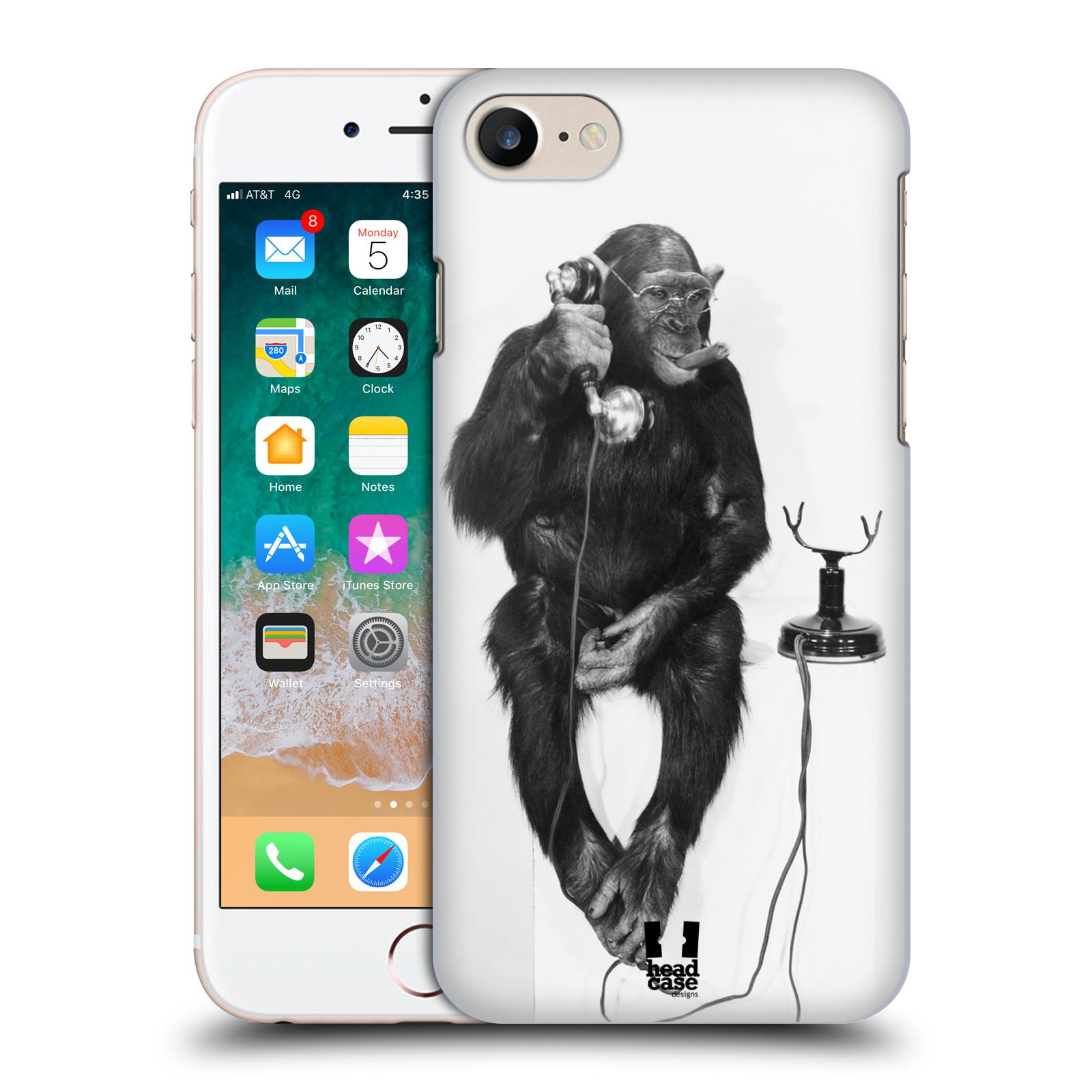 HEAD CASE plastový obal na mobil Apple Iphone 7 vzor Legrační zvířátka opička se sluchátkem
