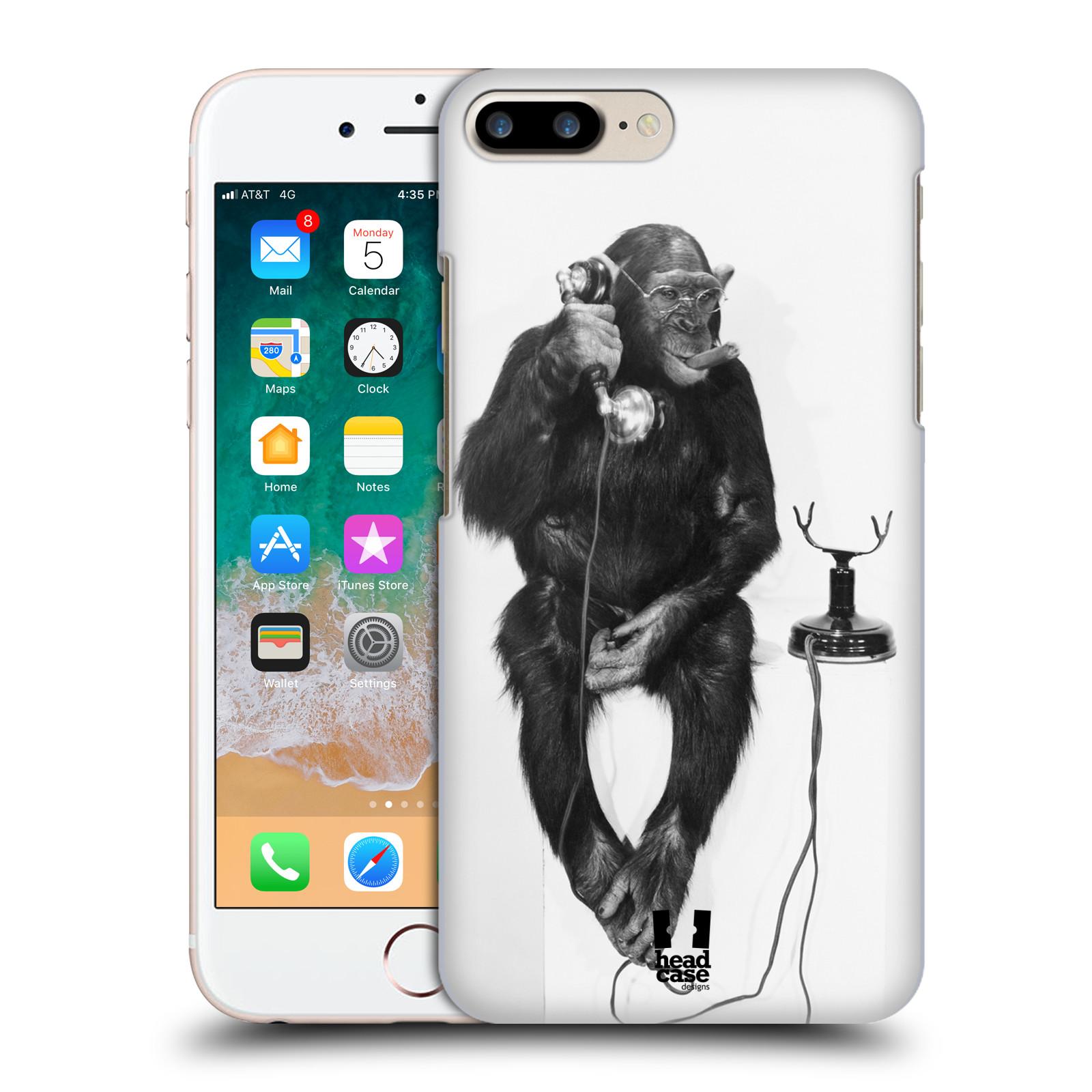 HEAD CASE plastový obal na mobil Apple Iphone 7 PLUS vzor Legrační zvířátka opička se sluchátkem