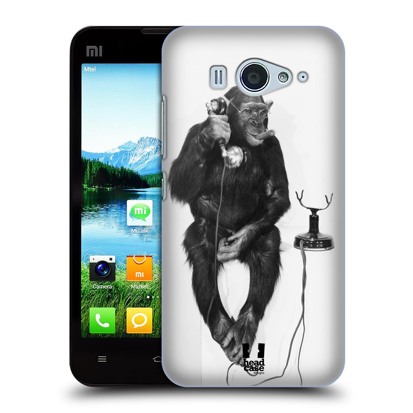 HEAD CASE pevný plastový obal na mobil XIAOMI MI2s vzor Legrační zvířátka opička se sluchátkem
