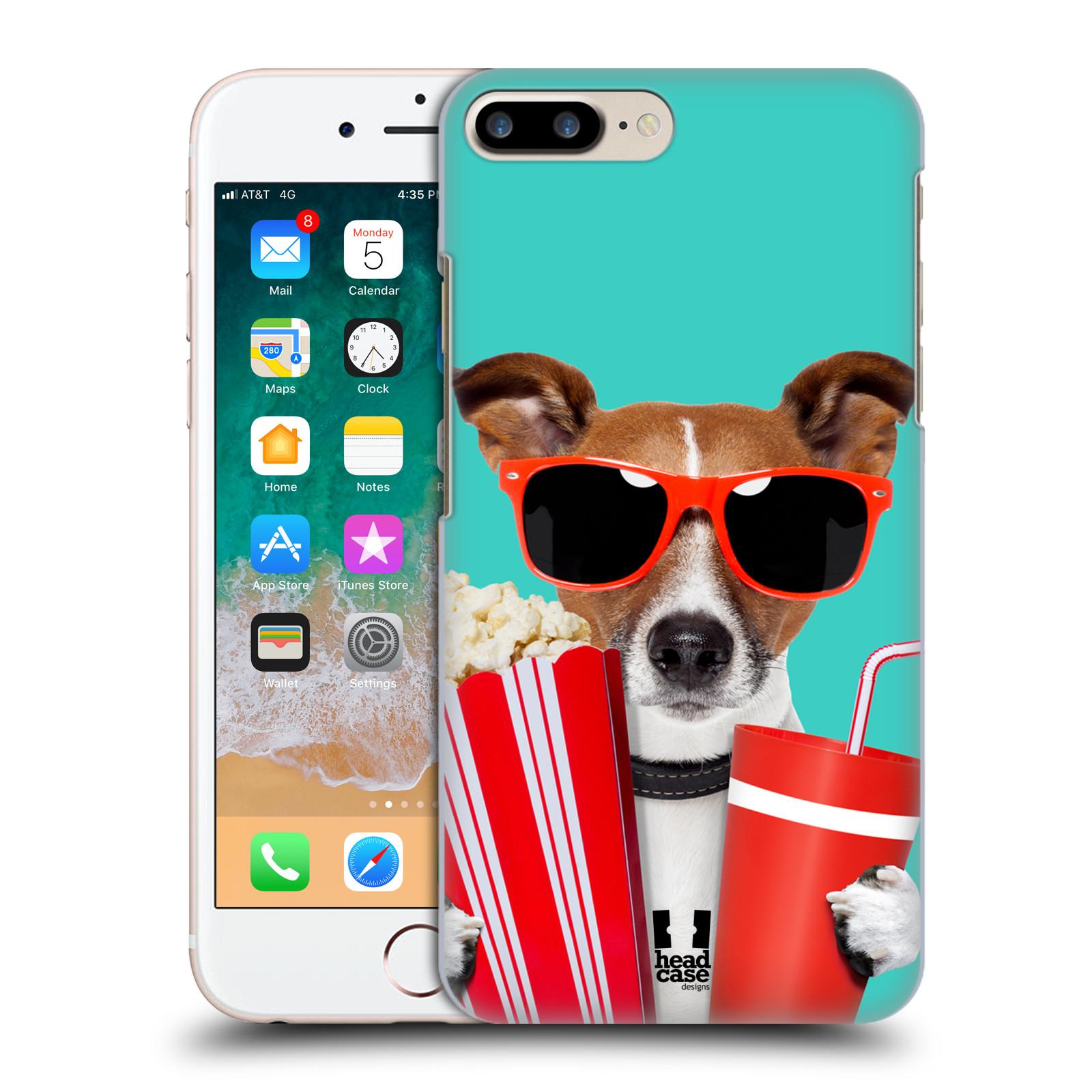 HEAD CASE plastový obal na mobil Apple Iphone 7 PLUS vzor Legrační zvířátka pejsek v kině s popkornem