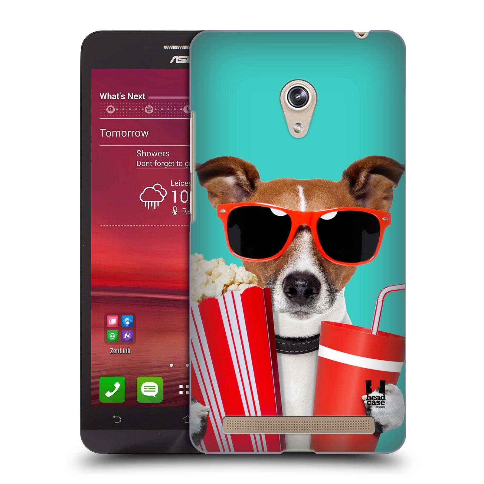 HEAD CASE plastový obal na mobil Asus Zenfone 6 vzor Legrační zvířátka pejsek v kině s popkornem