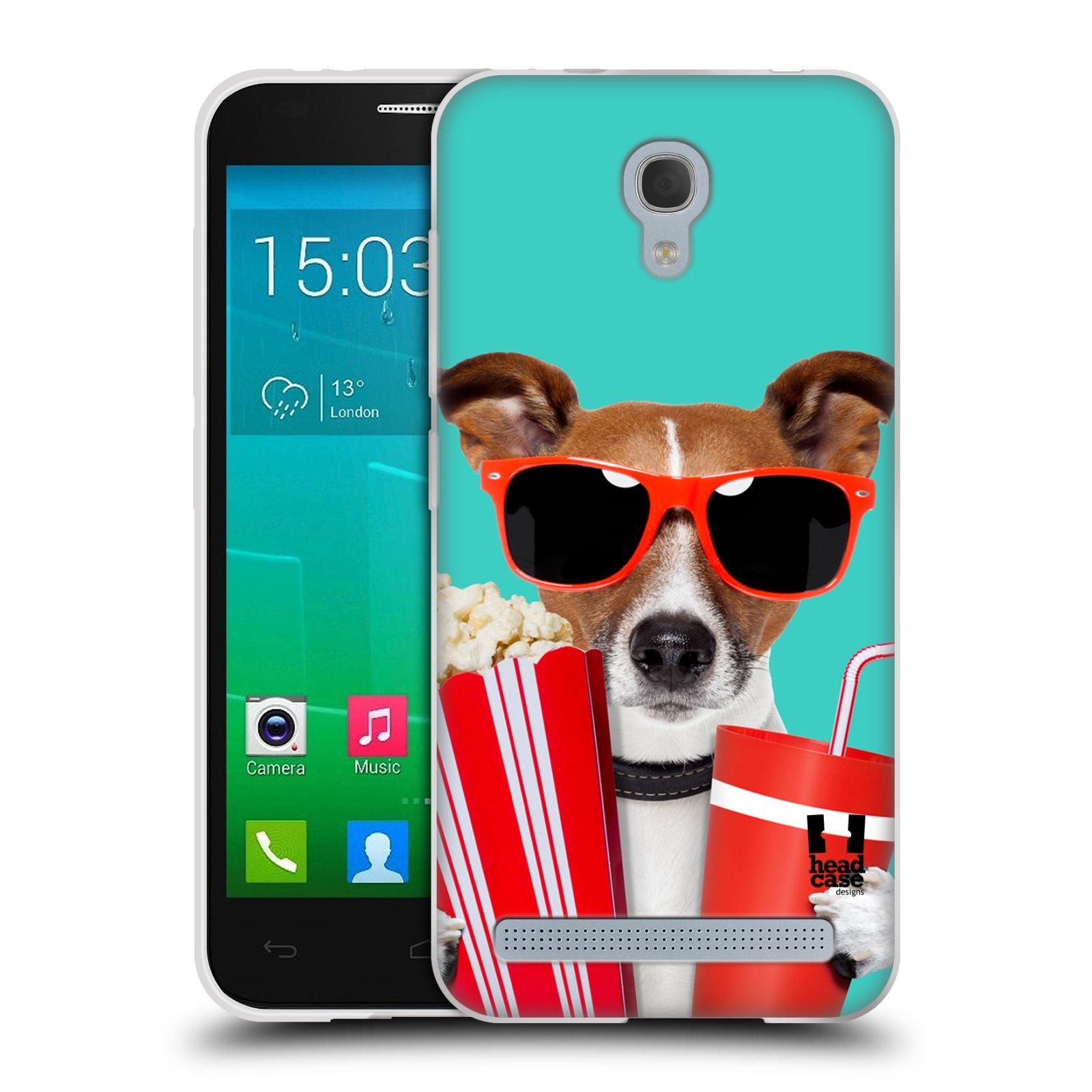 HEAD CASE silikonový obal na mobil Alcatel Idol 2 MINI S 6036Y vzor Legrační zvířátka pejsek v kině s popkornem