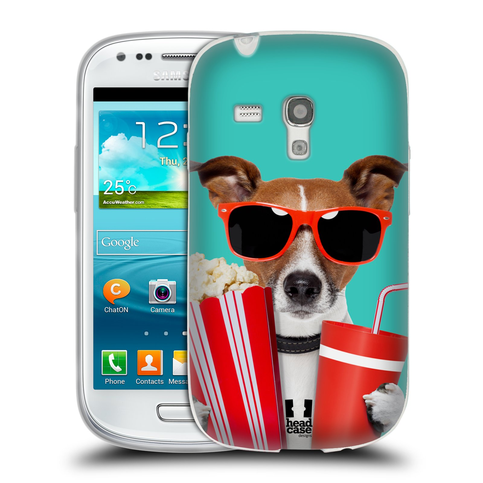 HEAD CASE silikonový obal na mobil Samsung Galaxy S3 MINI i8190 vzor Legrační zvířátka pejsek v kině s popkornem