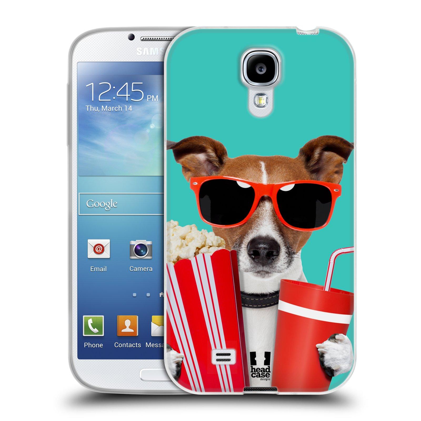 HEAD CASE silikonový obal na mobil Samsung Galaxy S4 i9500 vzor Legrační zvířátka pejsek v kině s popkornem