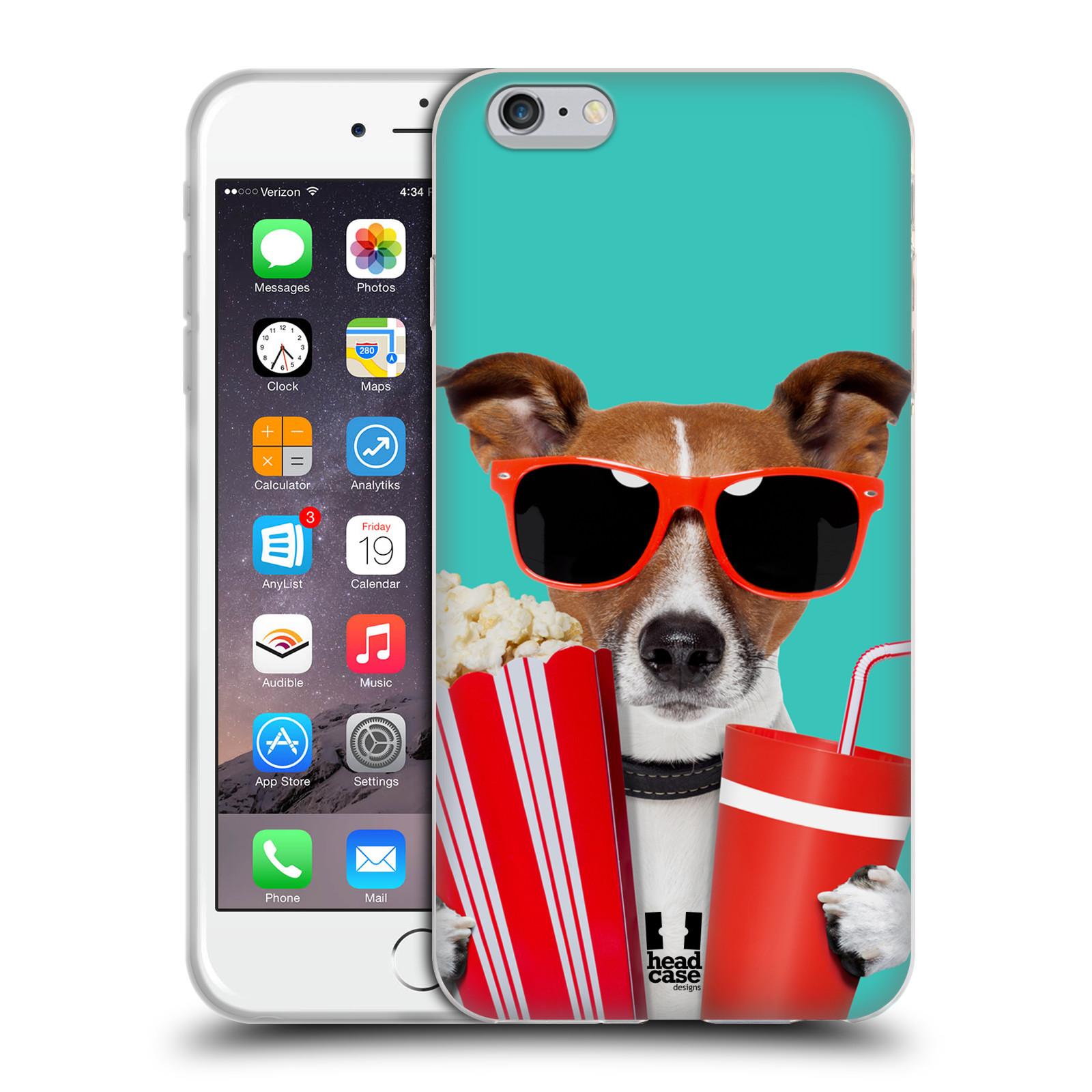 HEAD CASE silikonový obal na mobil Apple Iphone 6 PLUS/ 6S PLUS vzor Legrační zvířátka pejsek v kině s popkornem