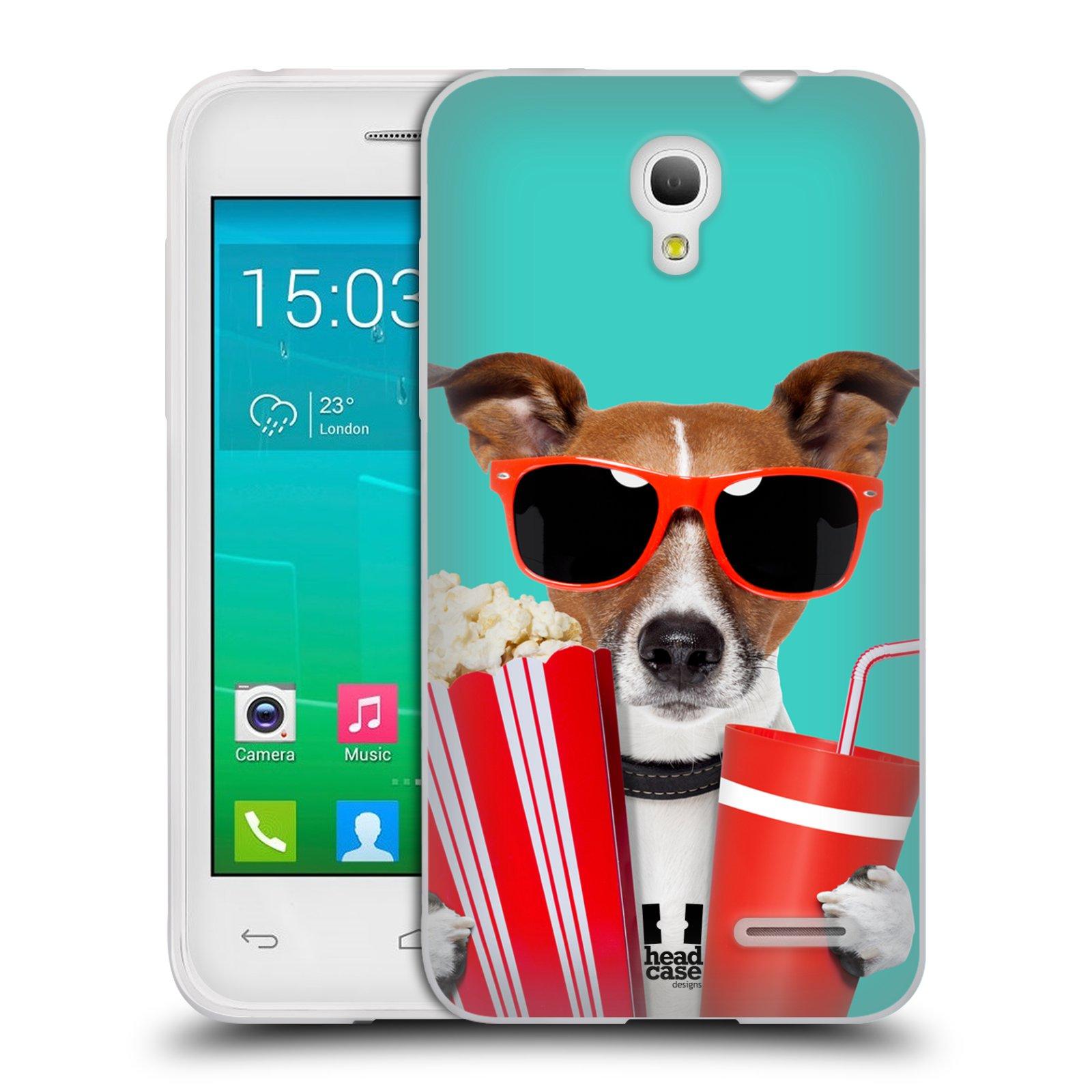 HEAD CASE silikonový obal na mobil Alcatel POP S3 OT-5050Y vzor Legrační zvířátka pejsek v kině s popkornem