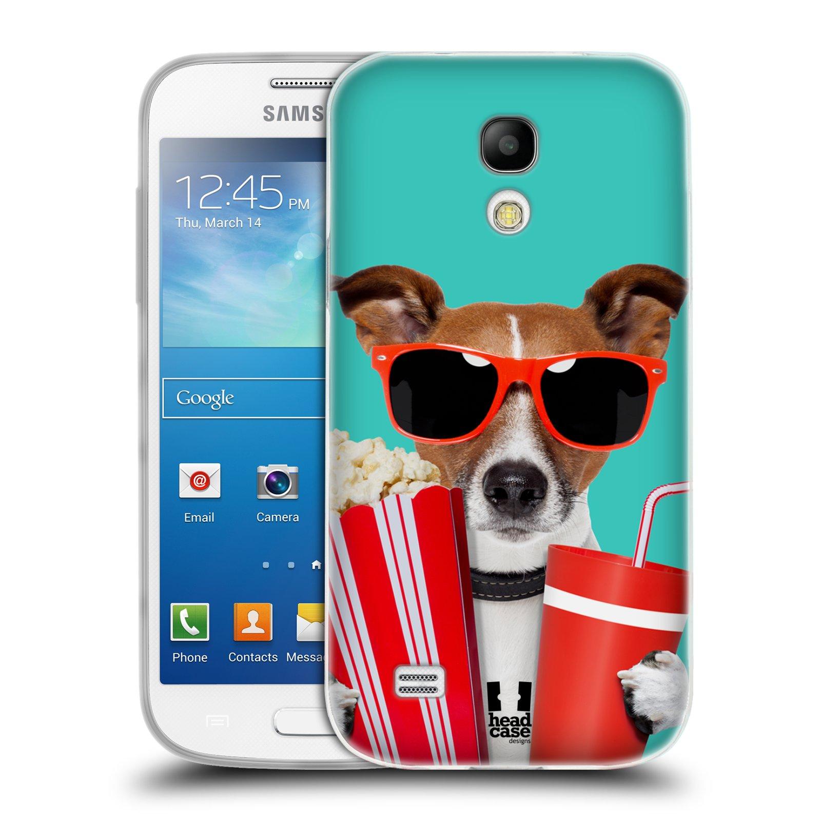 HEAD CASE silikonový obal na mobil Samsung Galaxy S4 MINI vzor Legrační zvířátka pejsek v kině s popkornem