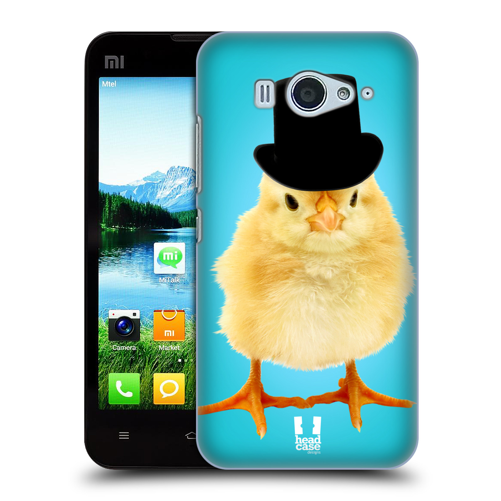 HEAD CASE pevný plastový obal na mobil XIAOMI MI2s vzor Legrační zvířátka Mr. kuřátko