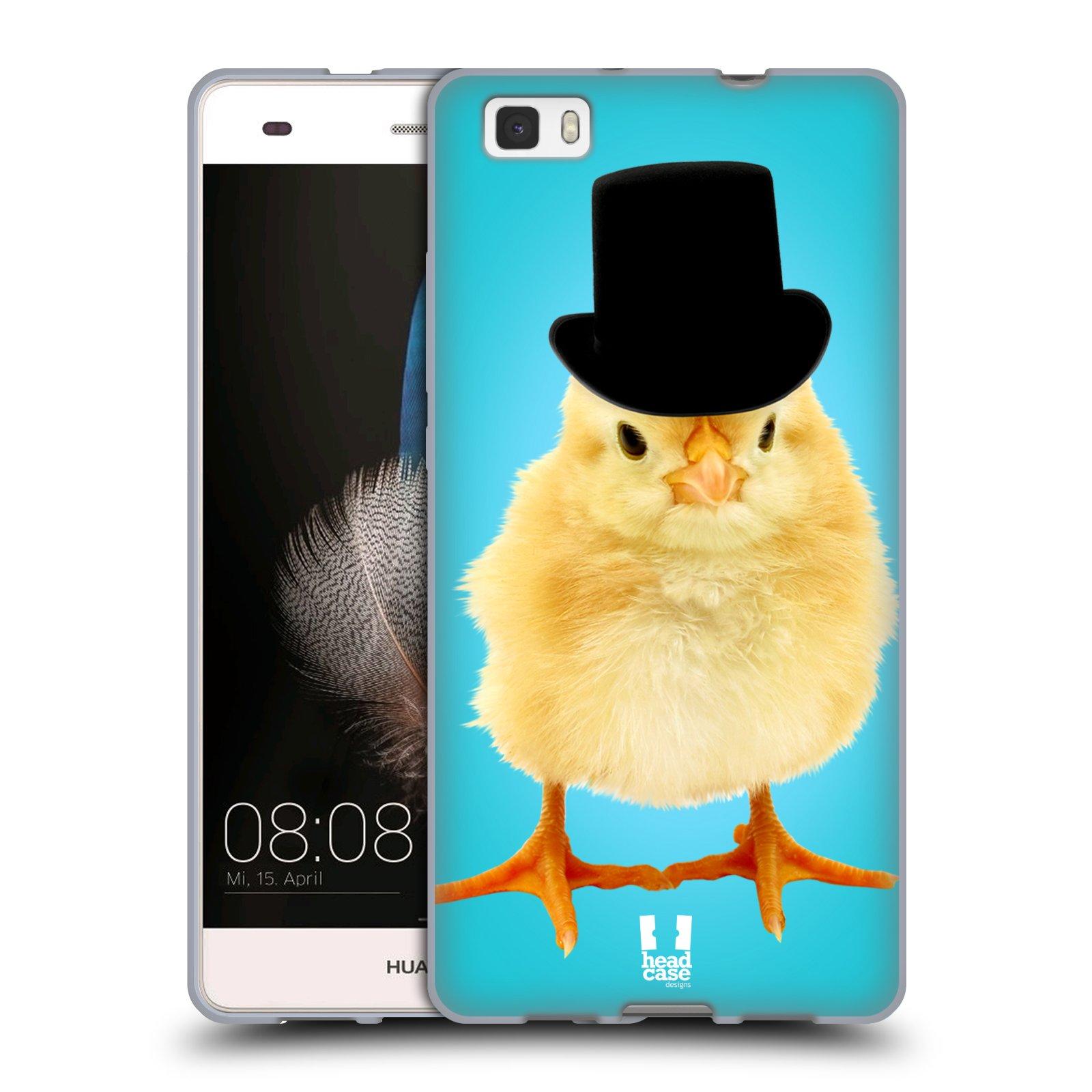 HEAD CASE silikonový obal na mobil Huawei  P8 LITE Legrační zvířátka pan kuřátko