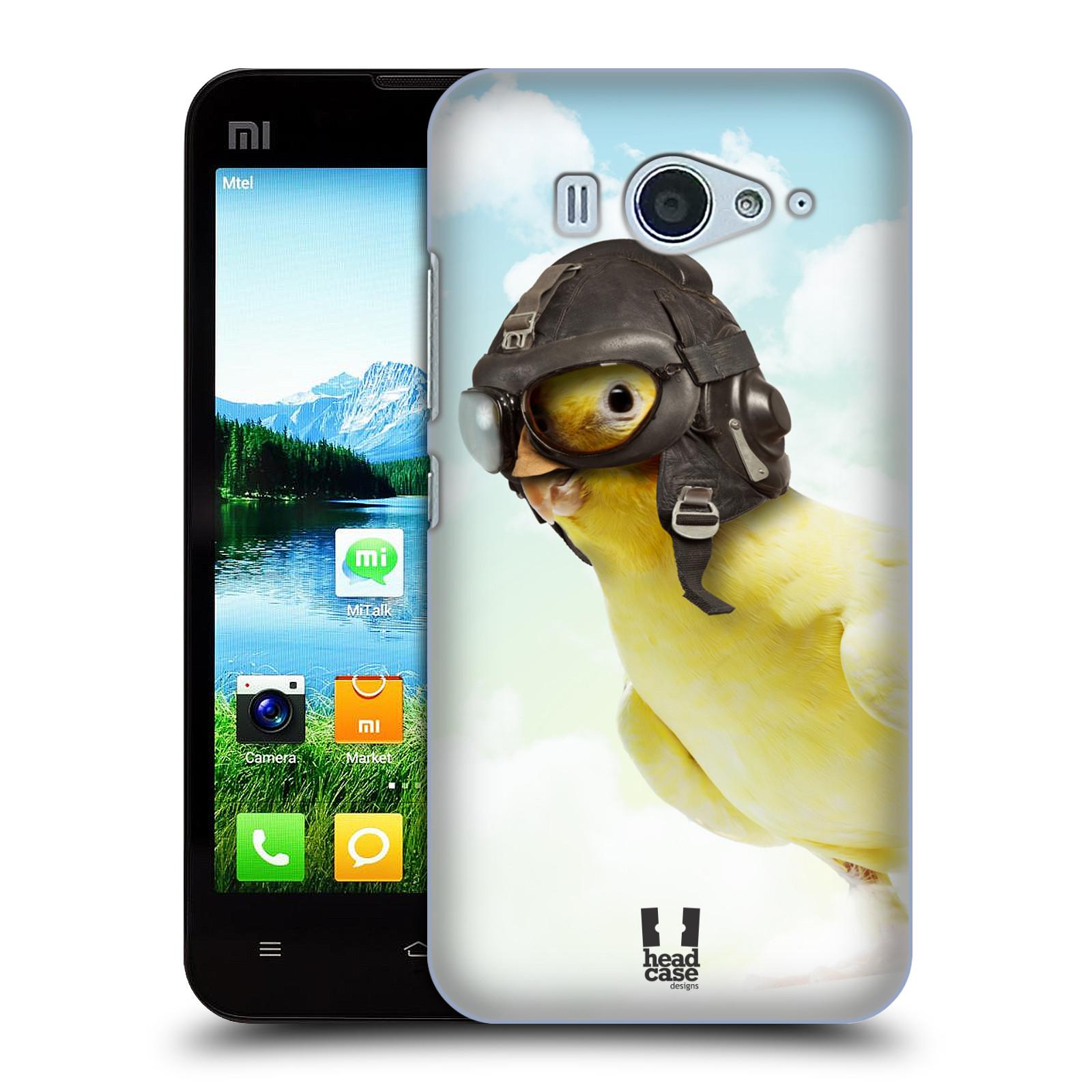 HEAD CASE pevný plastový obal na mobil XIAOMI MI2s vzor Legrační zvířátka ptáček letec