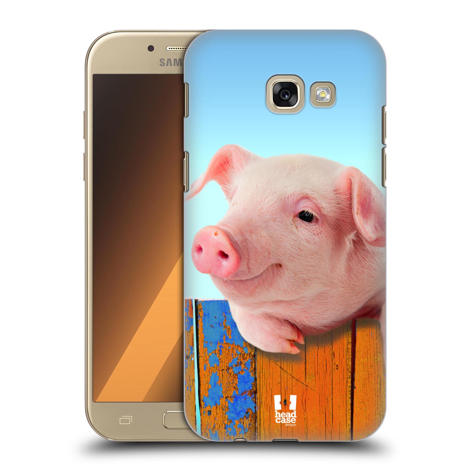 HEAD CASE plastový obal na mobil Samsung Galaxy A5 2017 vzor Legrační zvířátka prasátko růžová