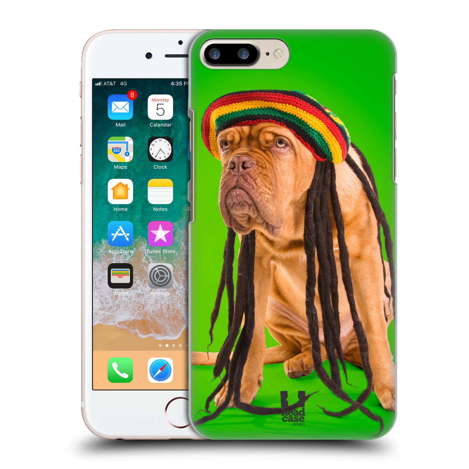 HEAD CASE plastový obal na mobil Apple Iphone 7 PLUS vzor Legrační zvířátka pejsek dredy Rastafarián