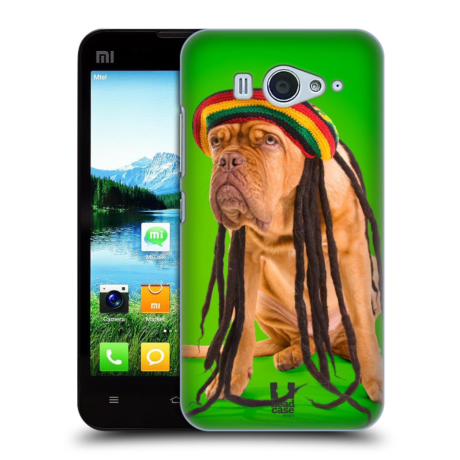 HEAD CASE pevný plastový obal na mobil XIAOMI MI2s vzor Legrační zvířátka pejsek dredy Rastafarián