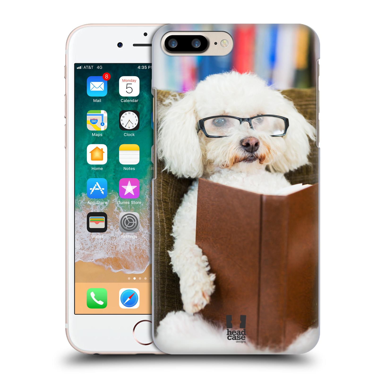 HEAD CASE plastový obal na mobil Apple Iphone 7 PLUS vzor Legrační zvířátka pejsek čtenář