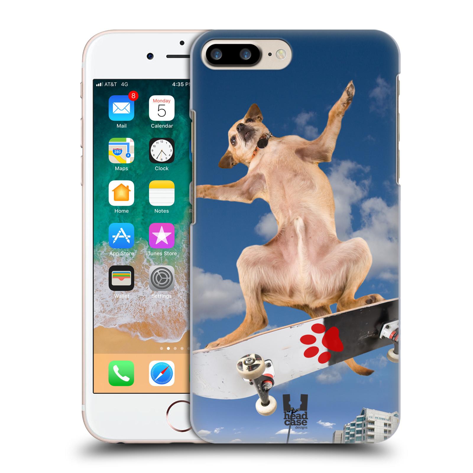 HEAD CASE plastový obal na mobil Apple Iphone 7 PLUS vzor Legrační zvířátka pejsek skateboard