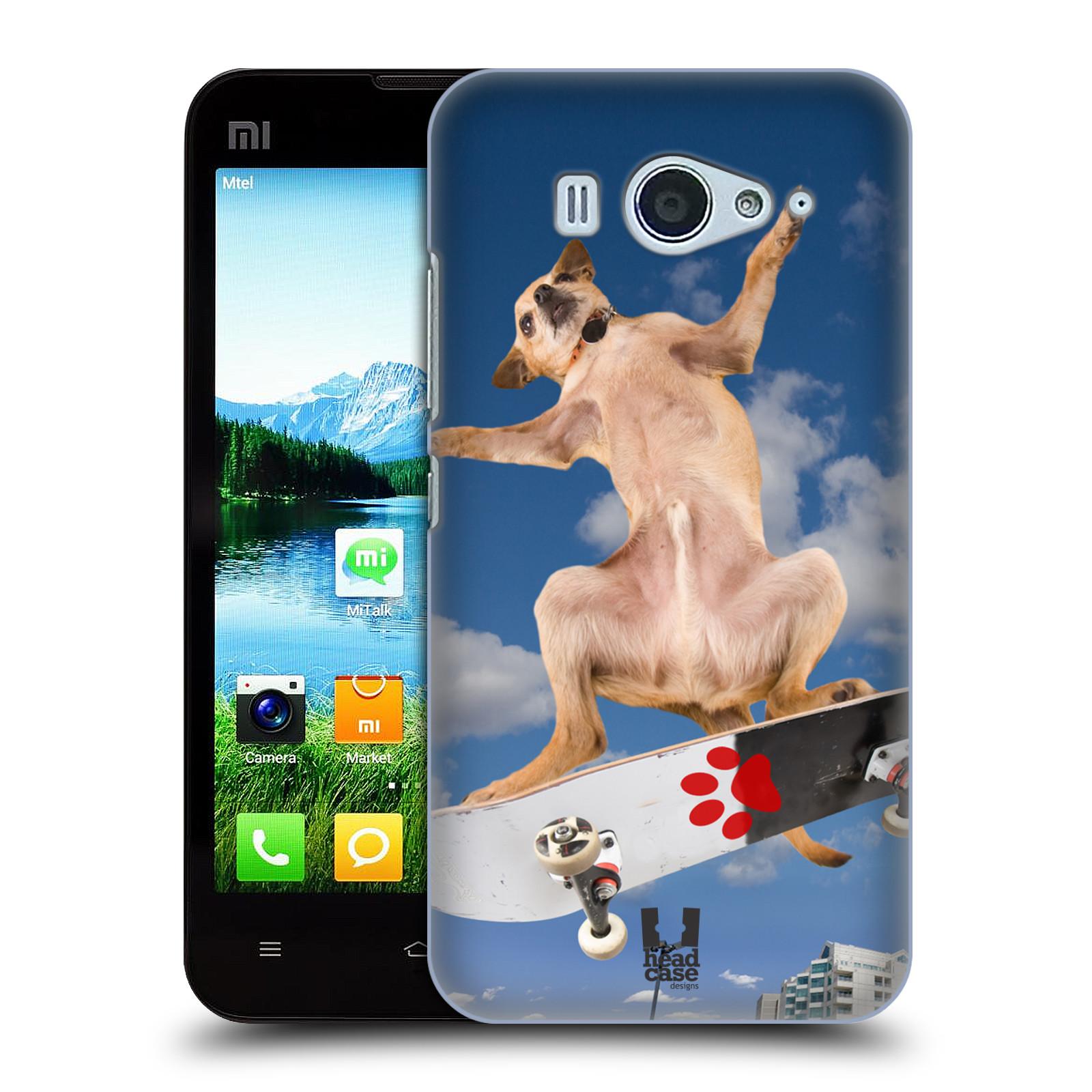 HEAD CASE pevný plastový obal na mobil XIAOMI MI2s vzor Legrační zvířátka pejsek skateboard