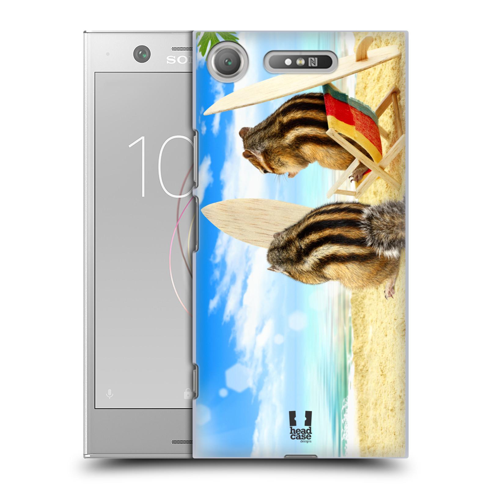 HEAD CASE plastový obal na mobil Sony Xperia XZ1 vzor Legrační zvířátka veverky surfaři u moře