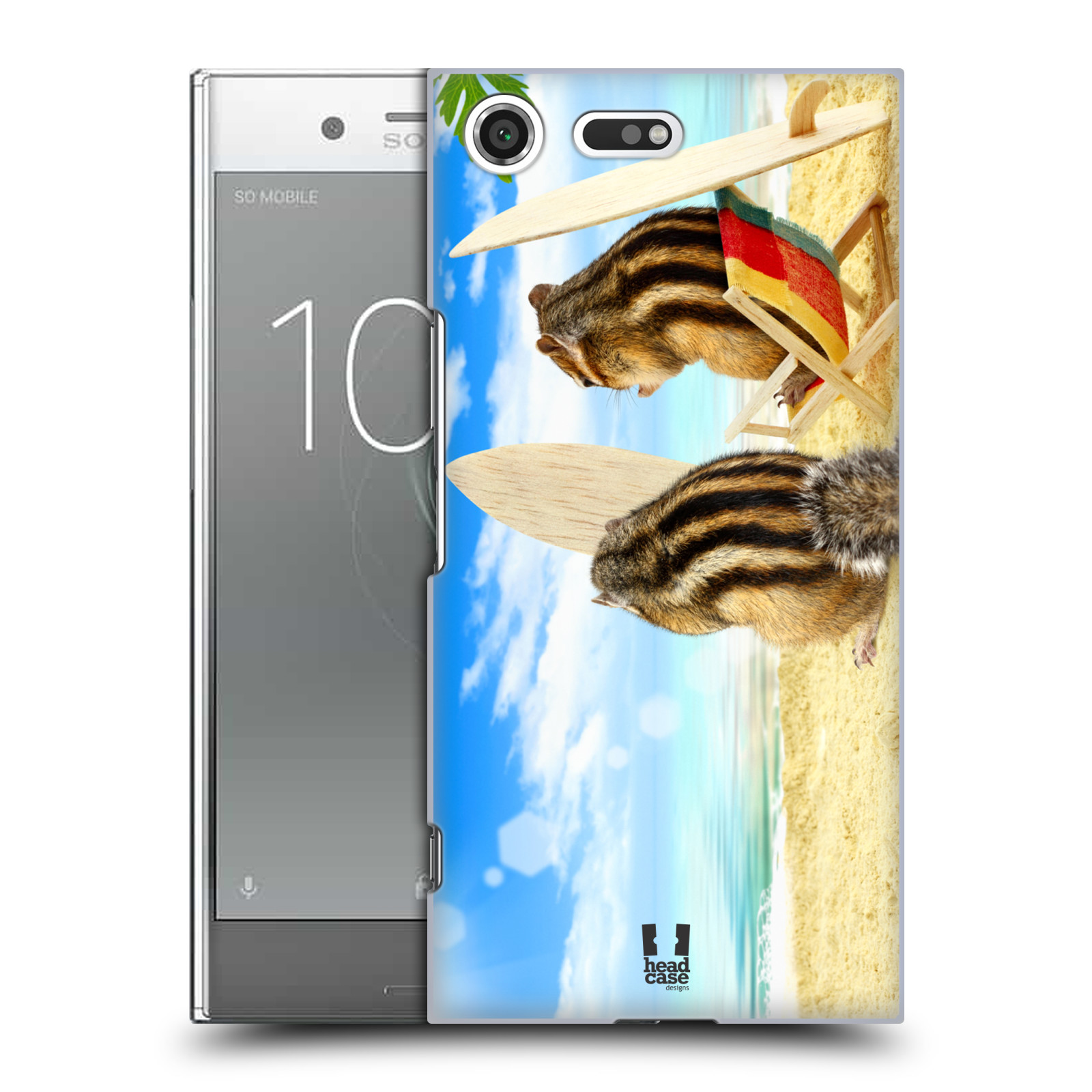 HEAD CASE plastový obal na mobil Sony Xperia XZ PREMIUM vzor Legrační zvířátka veverky surfaři u moře
